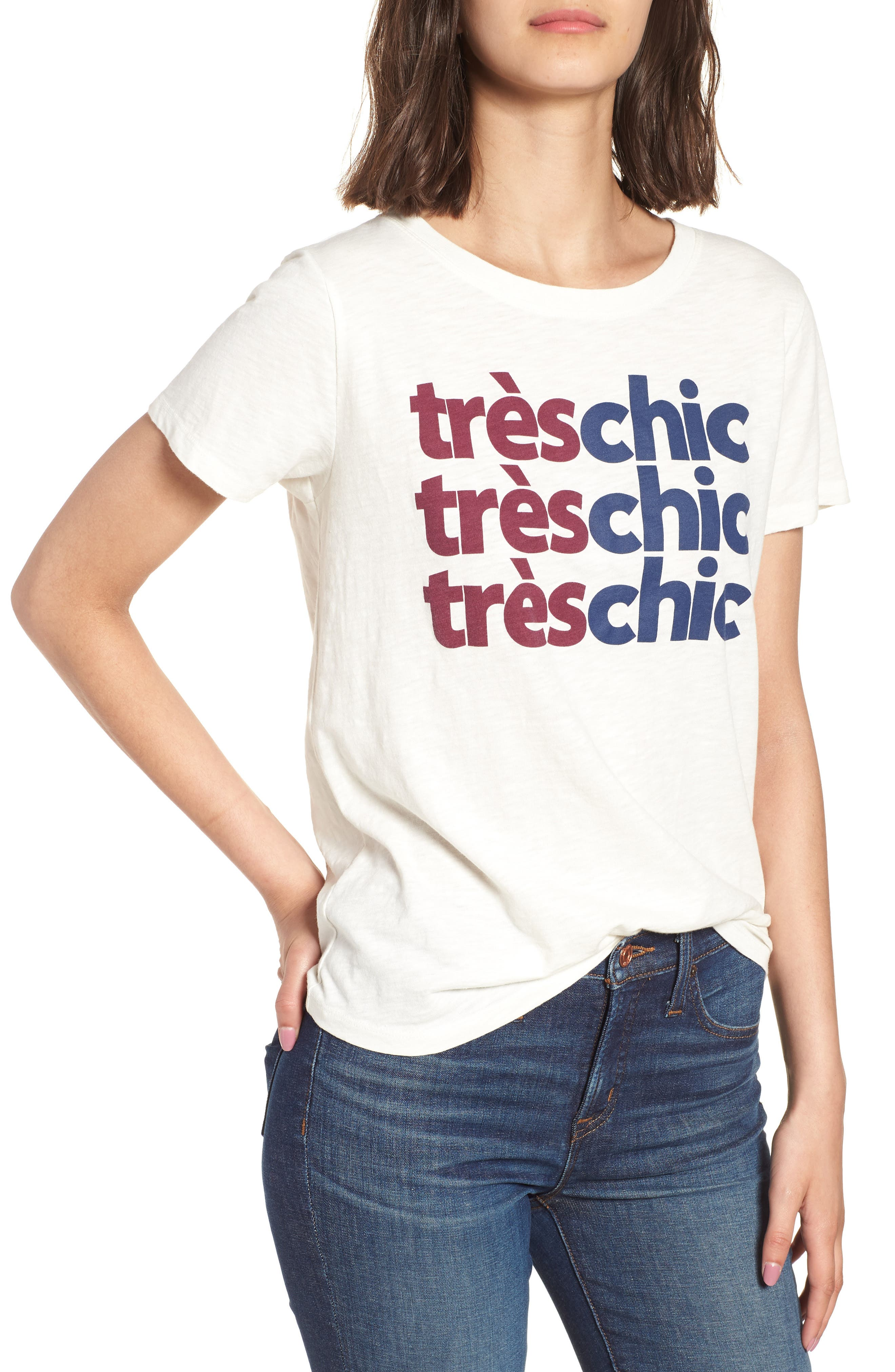 Très Chic Tee,                             Main thumbnail 2, color,