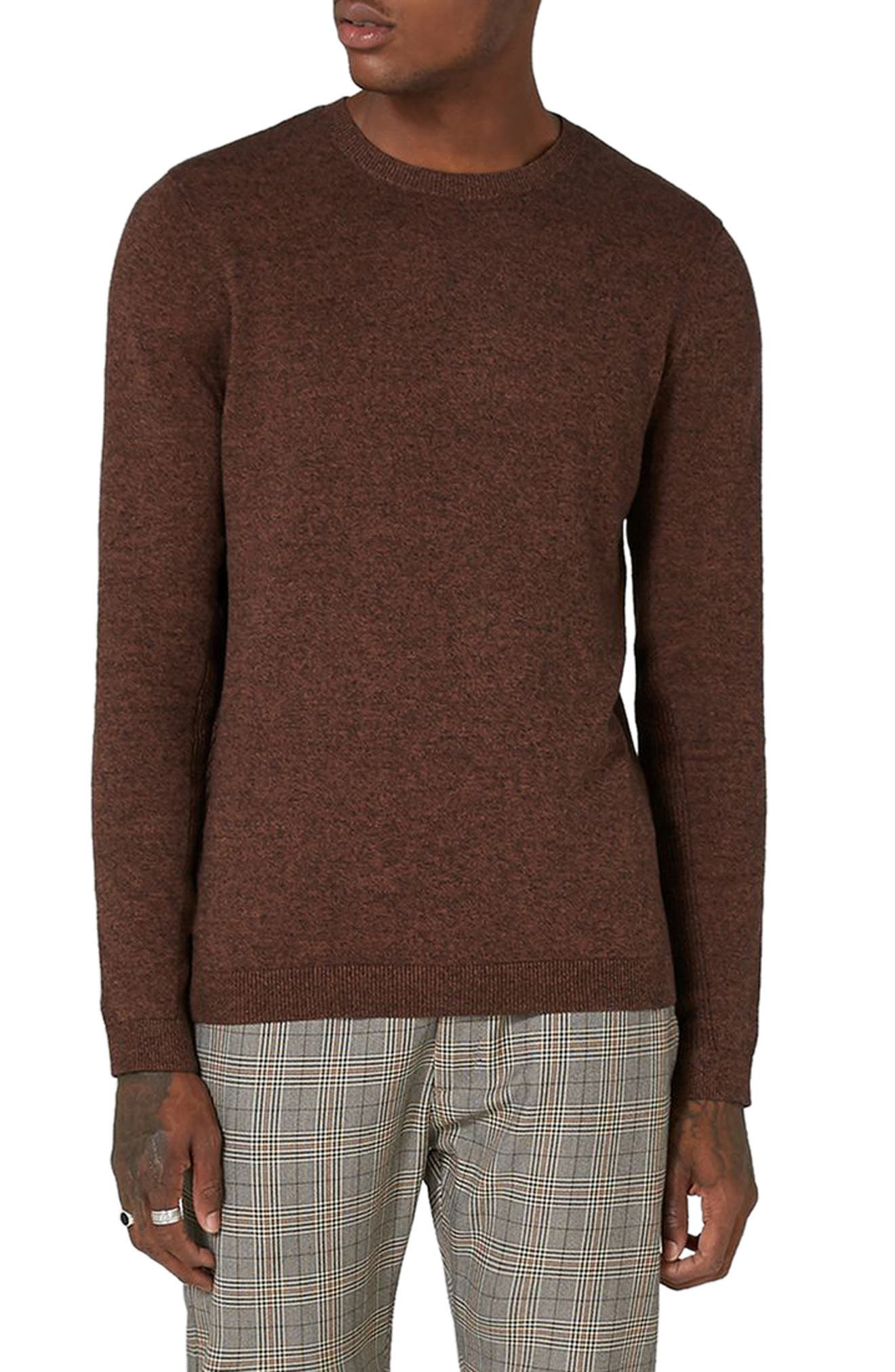 Side Ribbed Slim Fit Sweater,                             Main thumbnail 3, color,