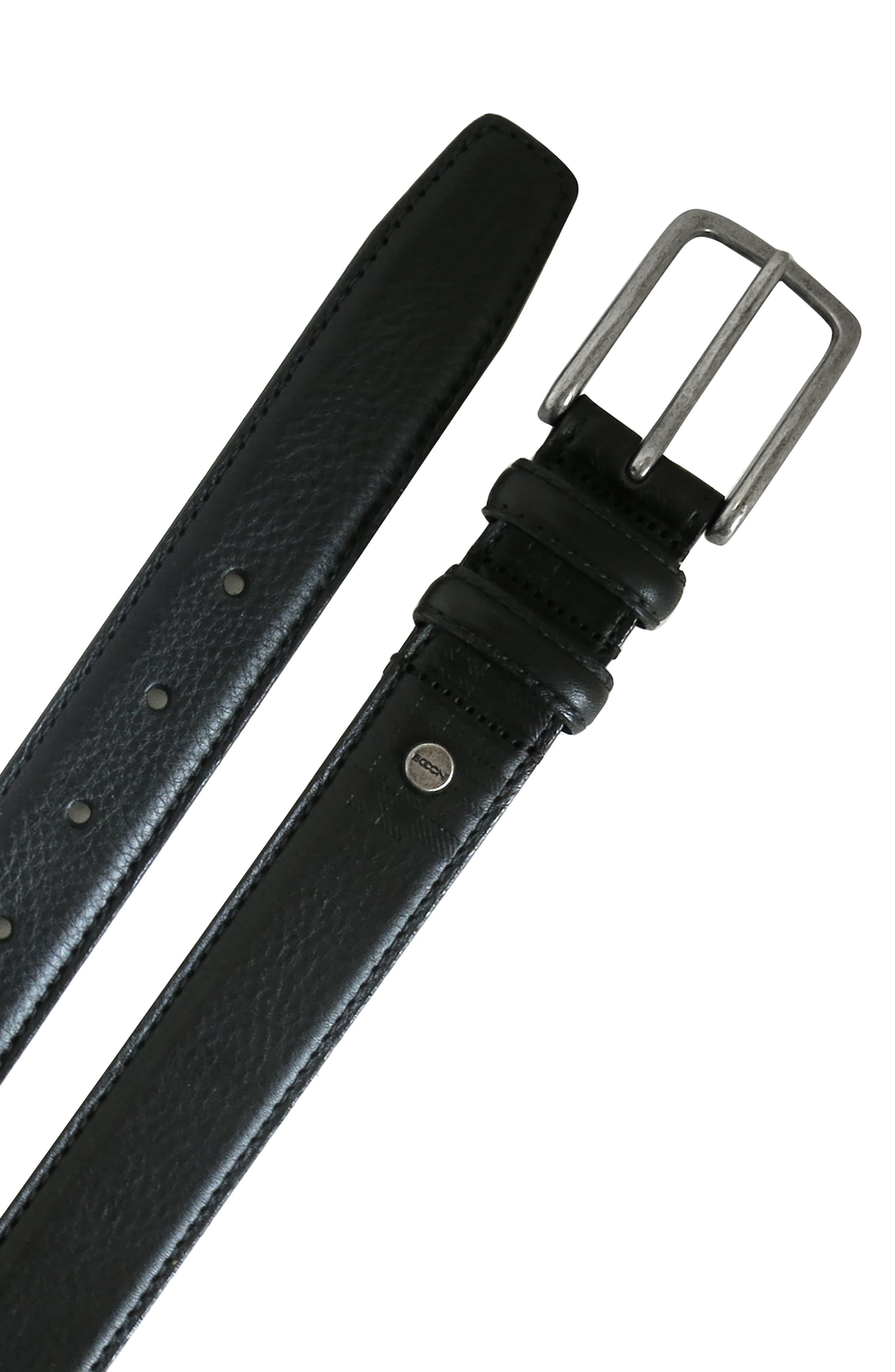 Clapton Leather Belt,                             Alternate thumbnail 3, color,                             BLACK