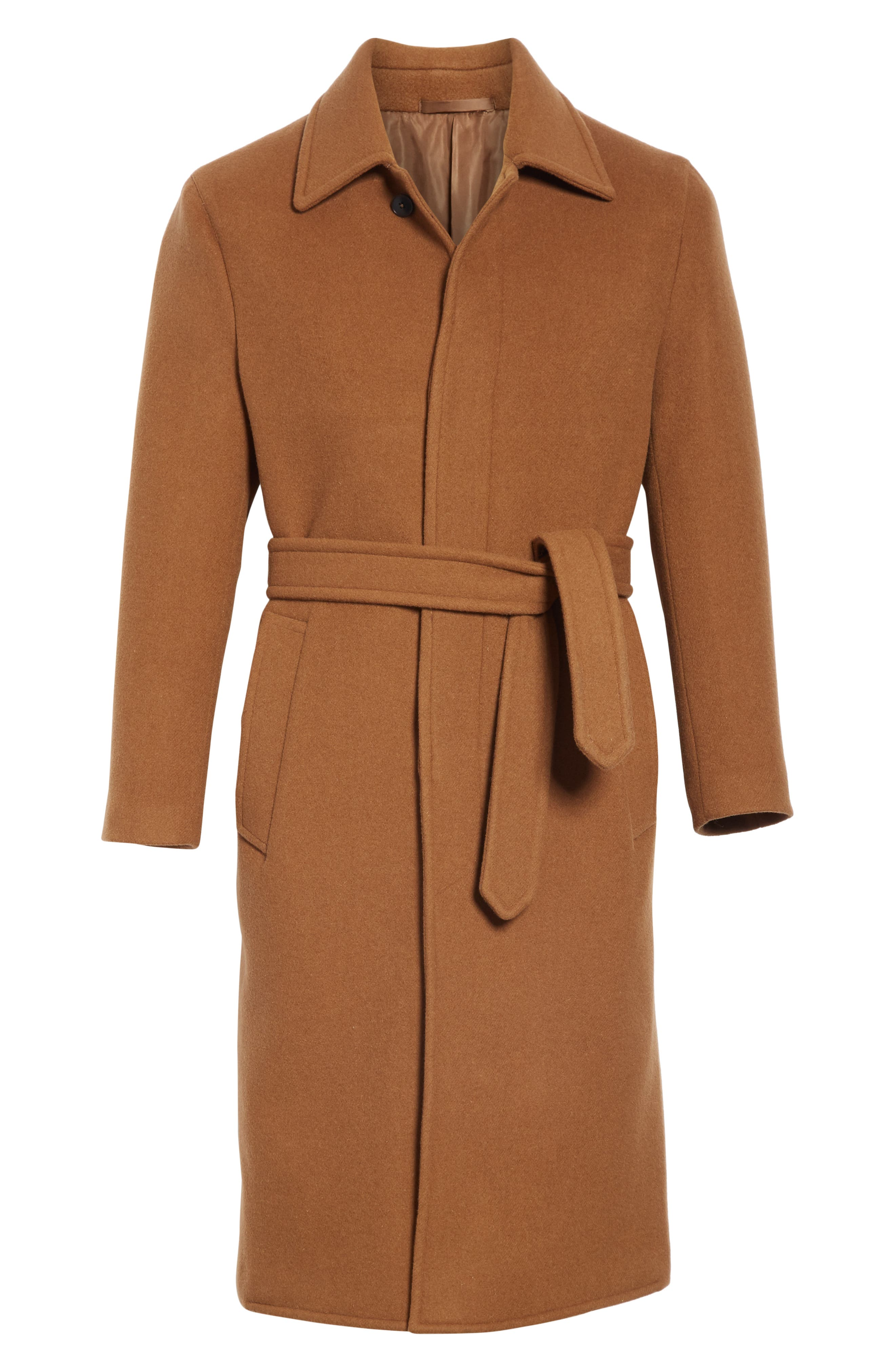 Wool & Cashmere Trench Coat,                             Alternate thumbnail 5, color,                             TAN
