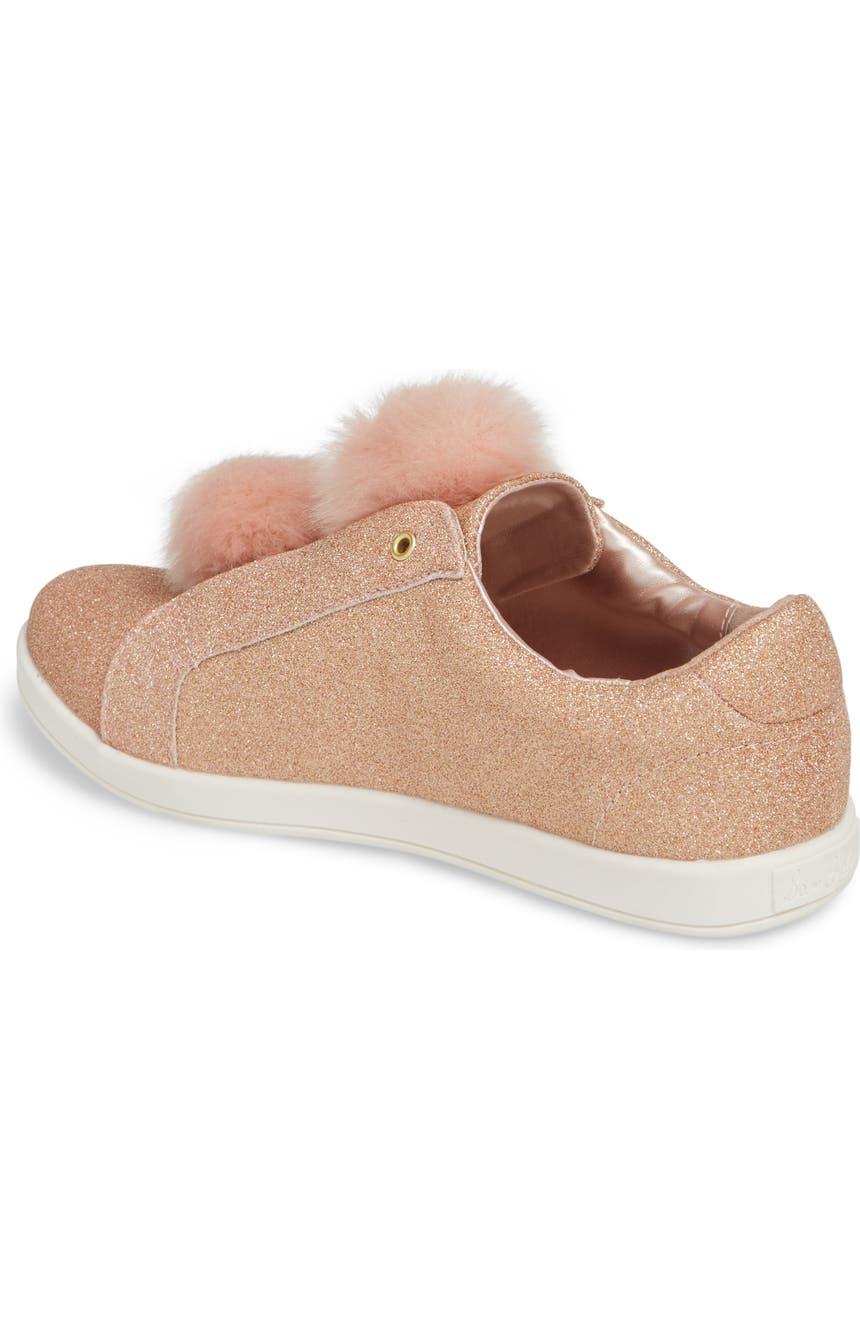 0f73955840fbfc Sam Edelman Cynthia Leya Faux Fur Pompom Slip-On Sneaker (Toddler ...