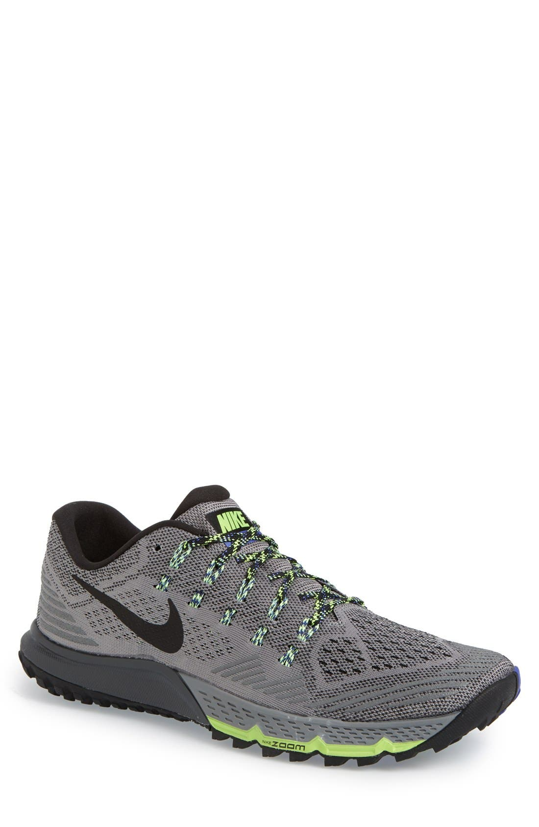 'Zoom Terra Kiger 3' Trail Running Shoe, Main, color, 081