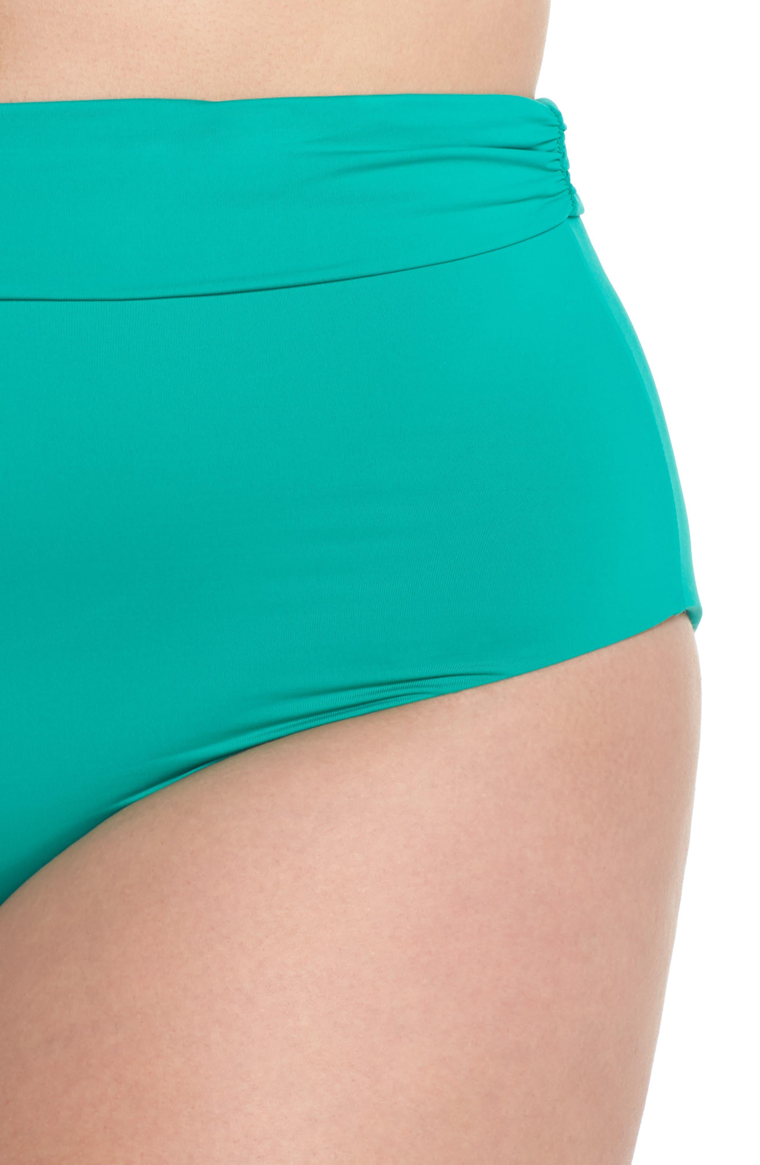 Color Splash High Waist Bikini Bottoms,                             Alternate thumbnail 4, color,                             305