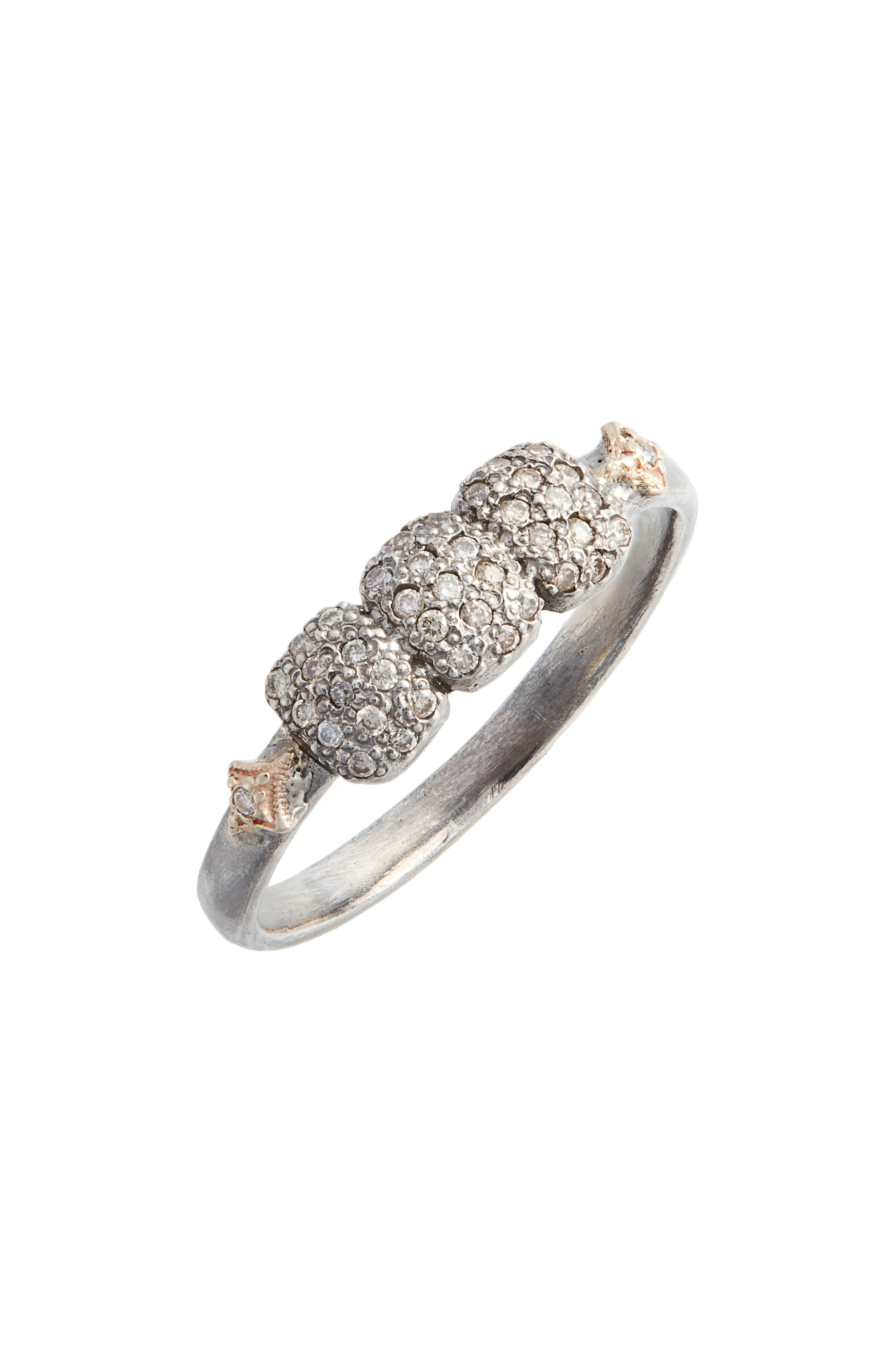 Armenta OLD WORLD MULTI-CUSHION PAVE DIAMOND RING