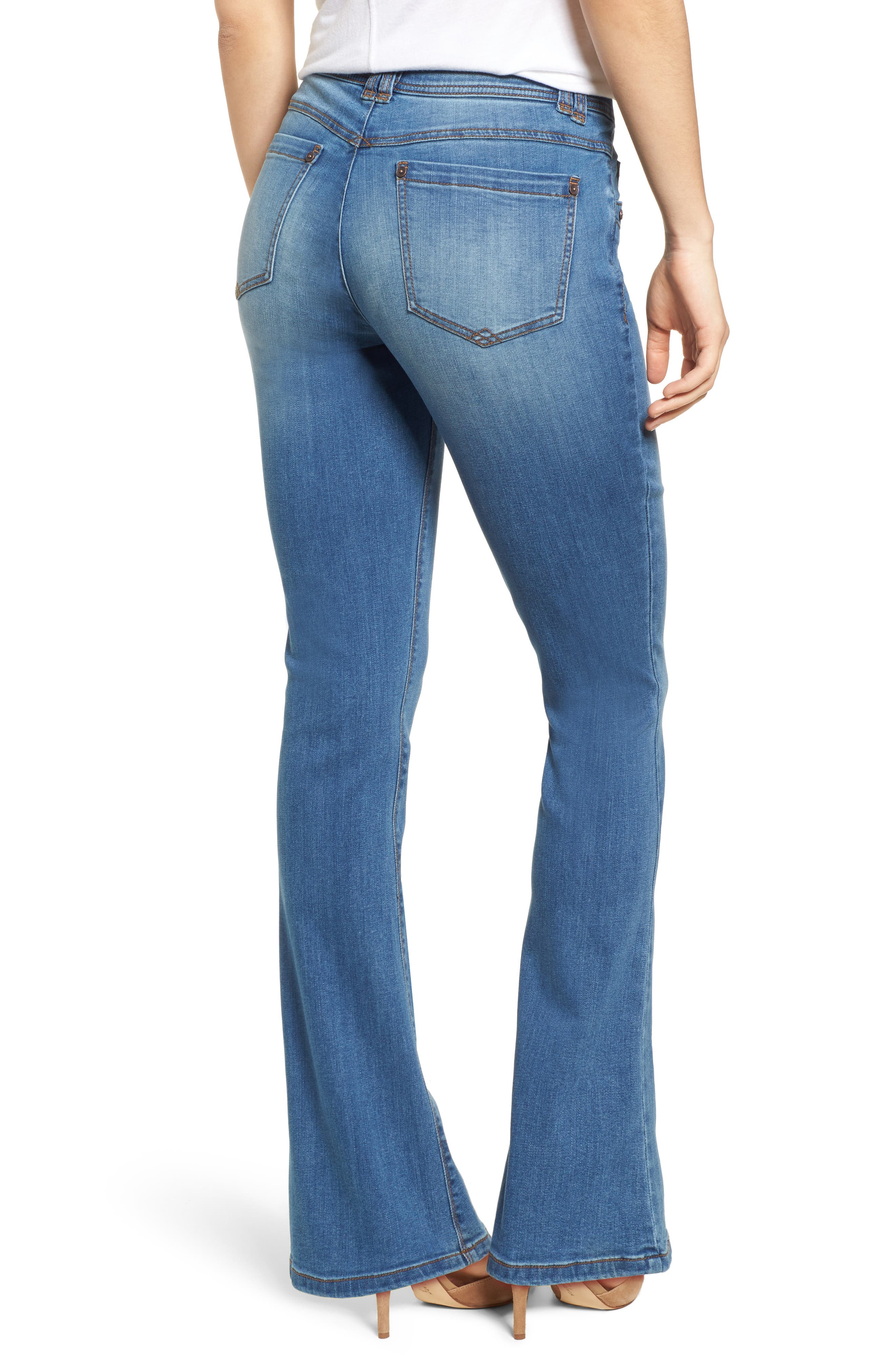 WIT & WISDOM,                             Ab-solution Itty Bitty Bootcut Jeans,                             Alternate thumbnail 2, color,                             LIGHT BLUE