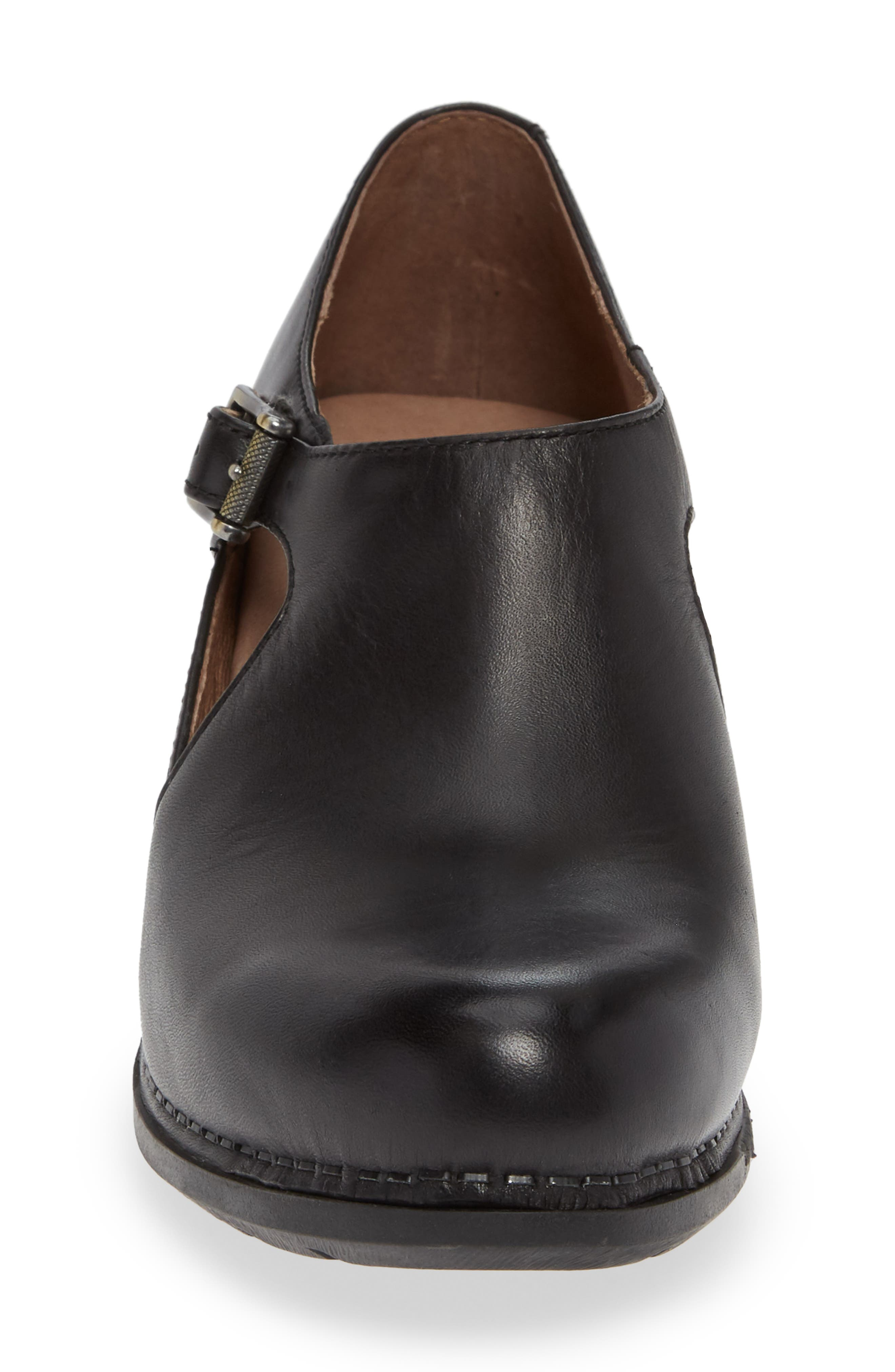 Hollie Bootie,                             Alternate thumbnail 4, color,                             BLACK LEATHER