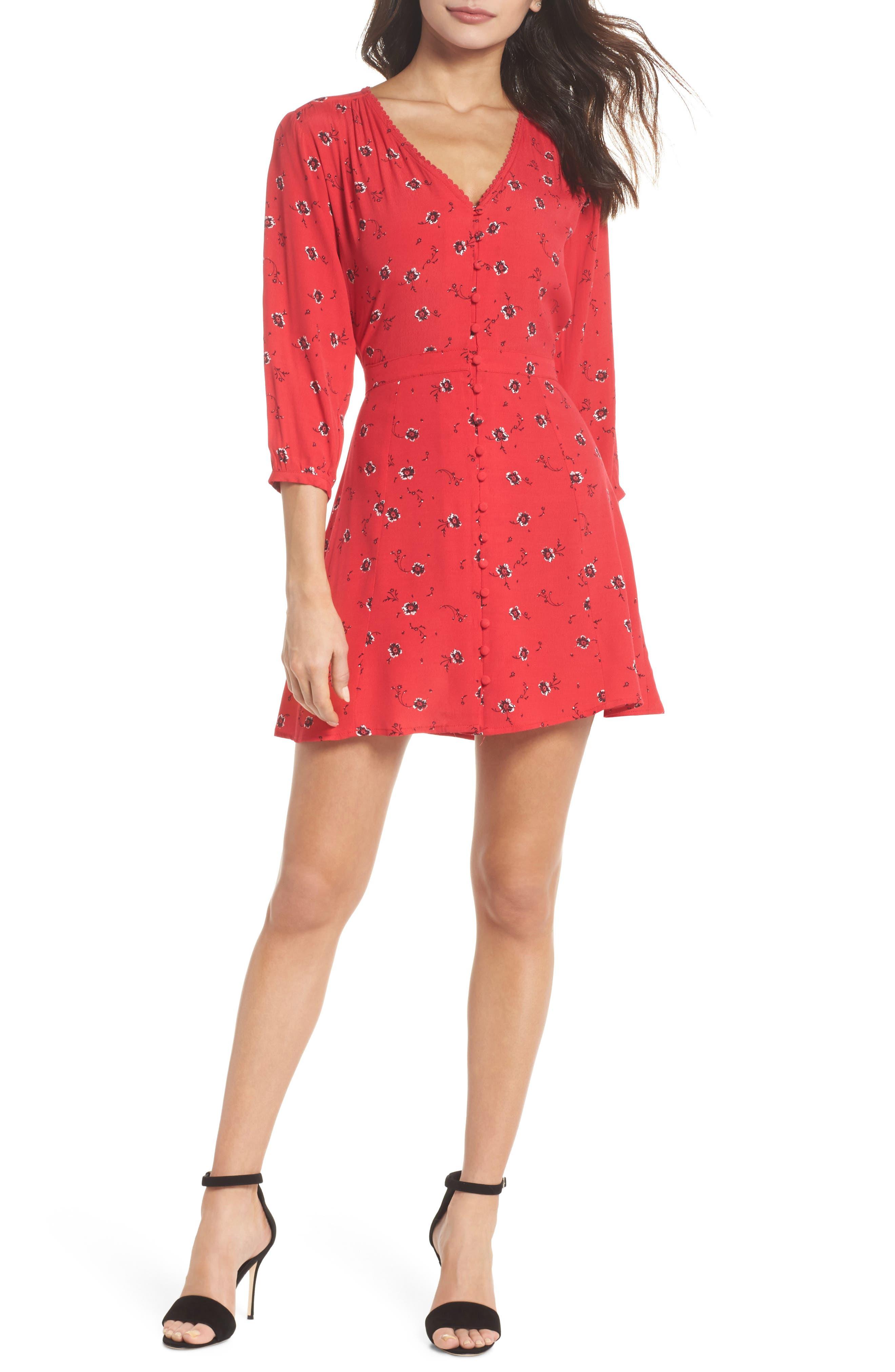Luella Floral Print Dress,                         Main,                         color, 650
