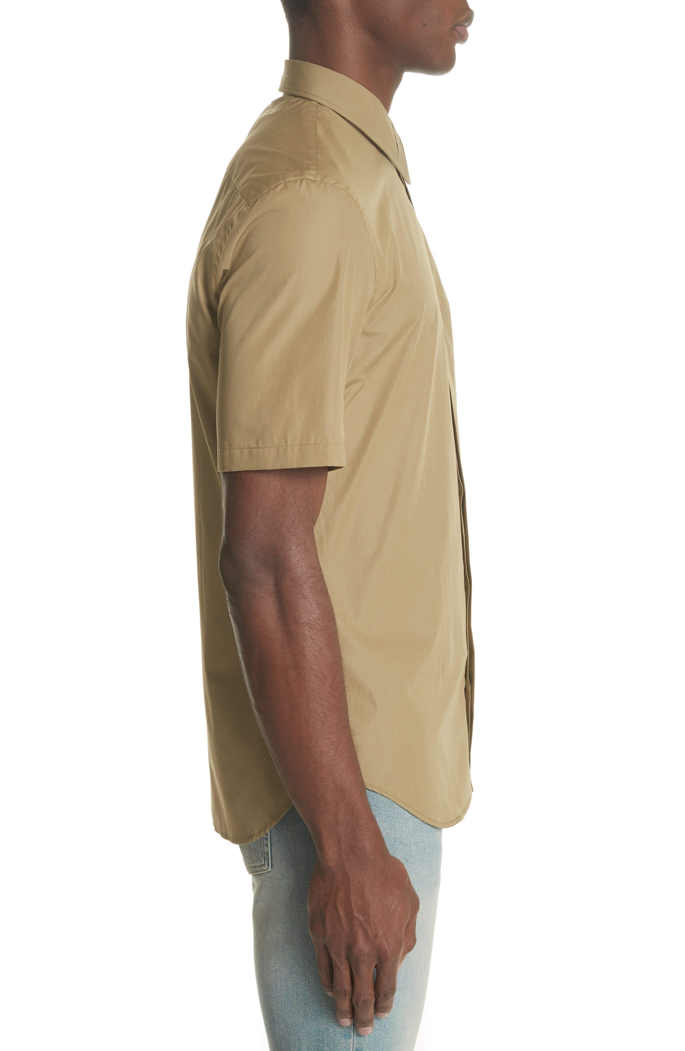 Poplin Short Sleeve Woven Shirt,                             Alternate thumbnail 3, color,