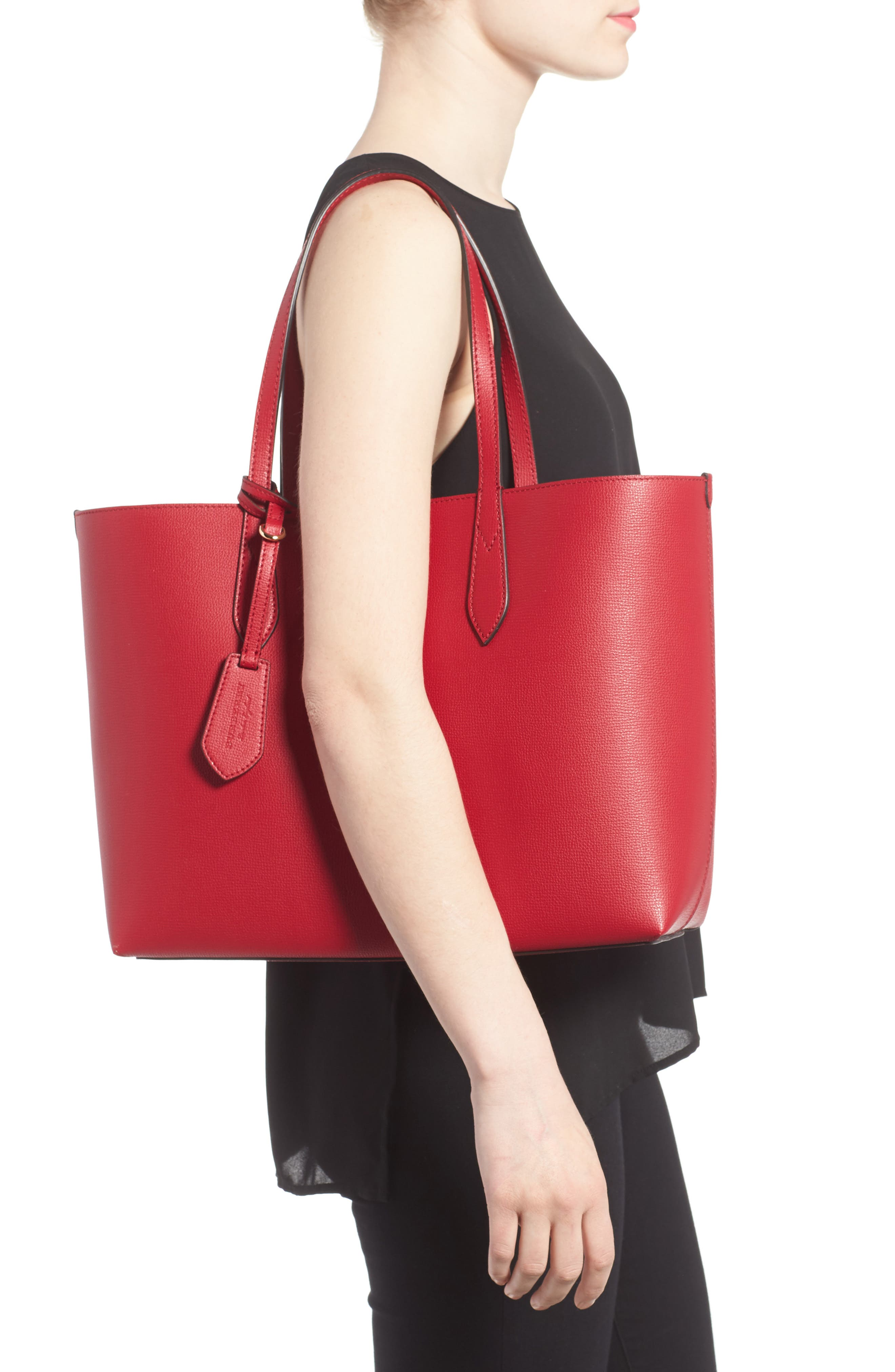 Reversible Leather Tote,                             Alternate thumbnail 2, color,                             613