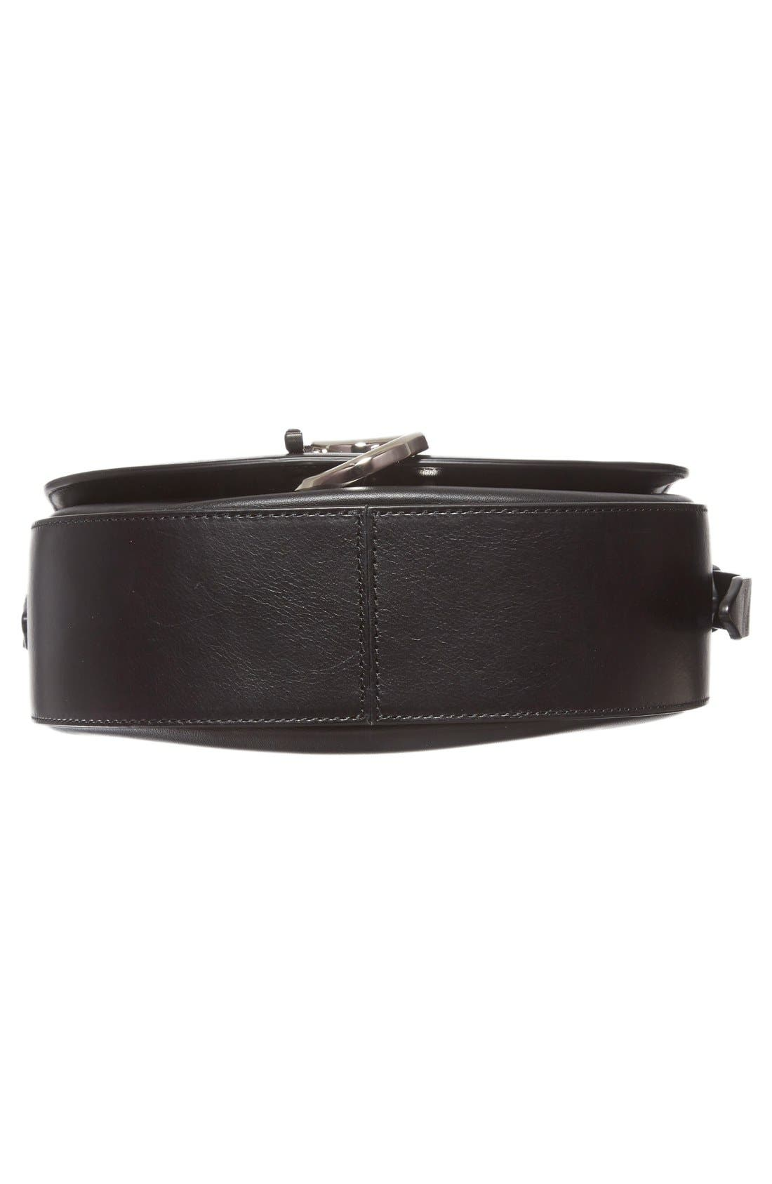 Alix Leather Saddle Bag,                             Alternate thumbnail 6, color,                             001