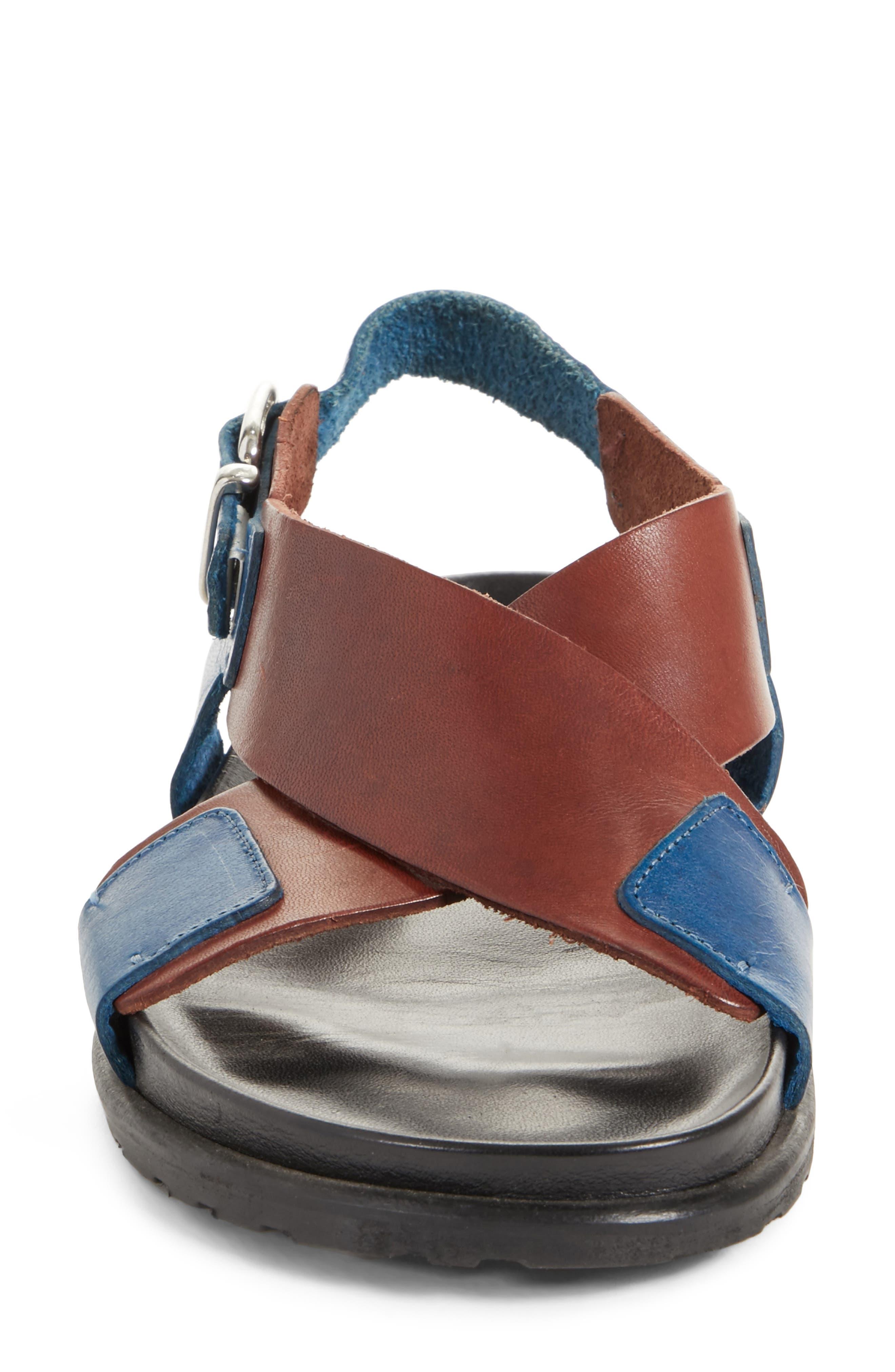 Bicolor Strappy Sandal,                             Alternate thumbnail 4, color,                             200