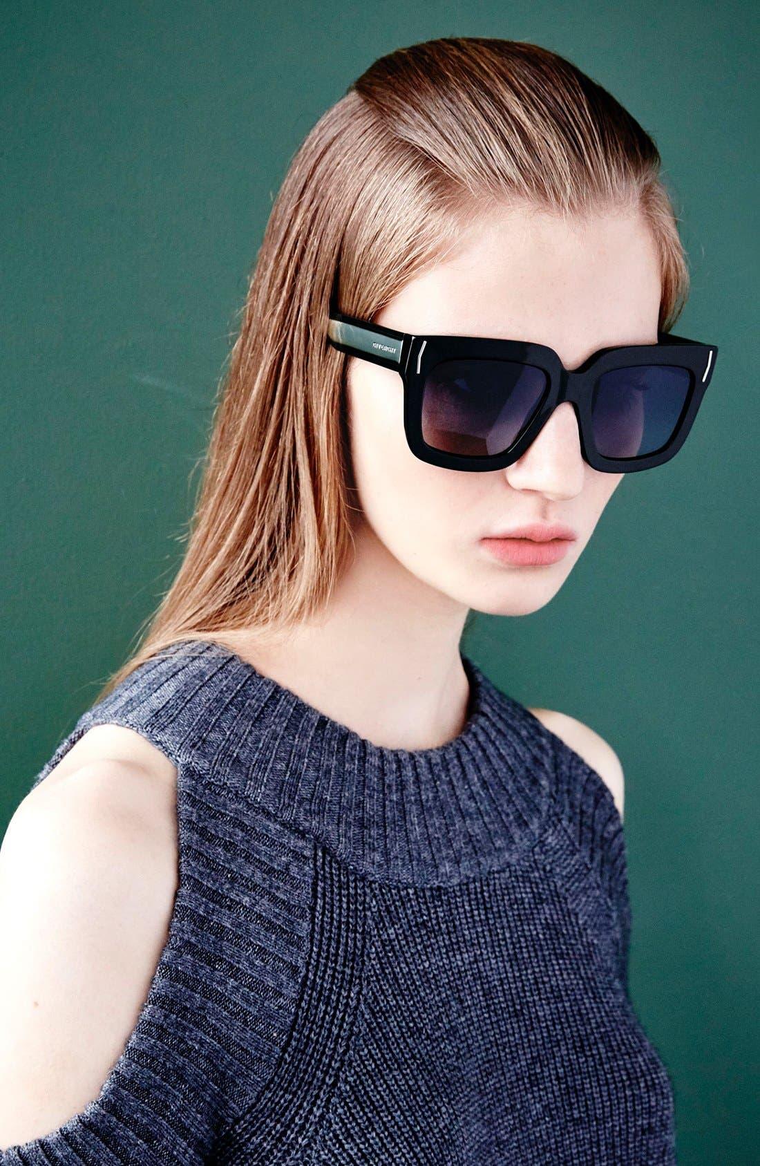 53mm Sunglasses,                             Alternate thumbnail 3, color,                             001