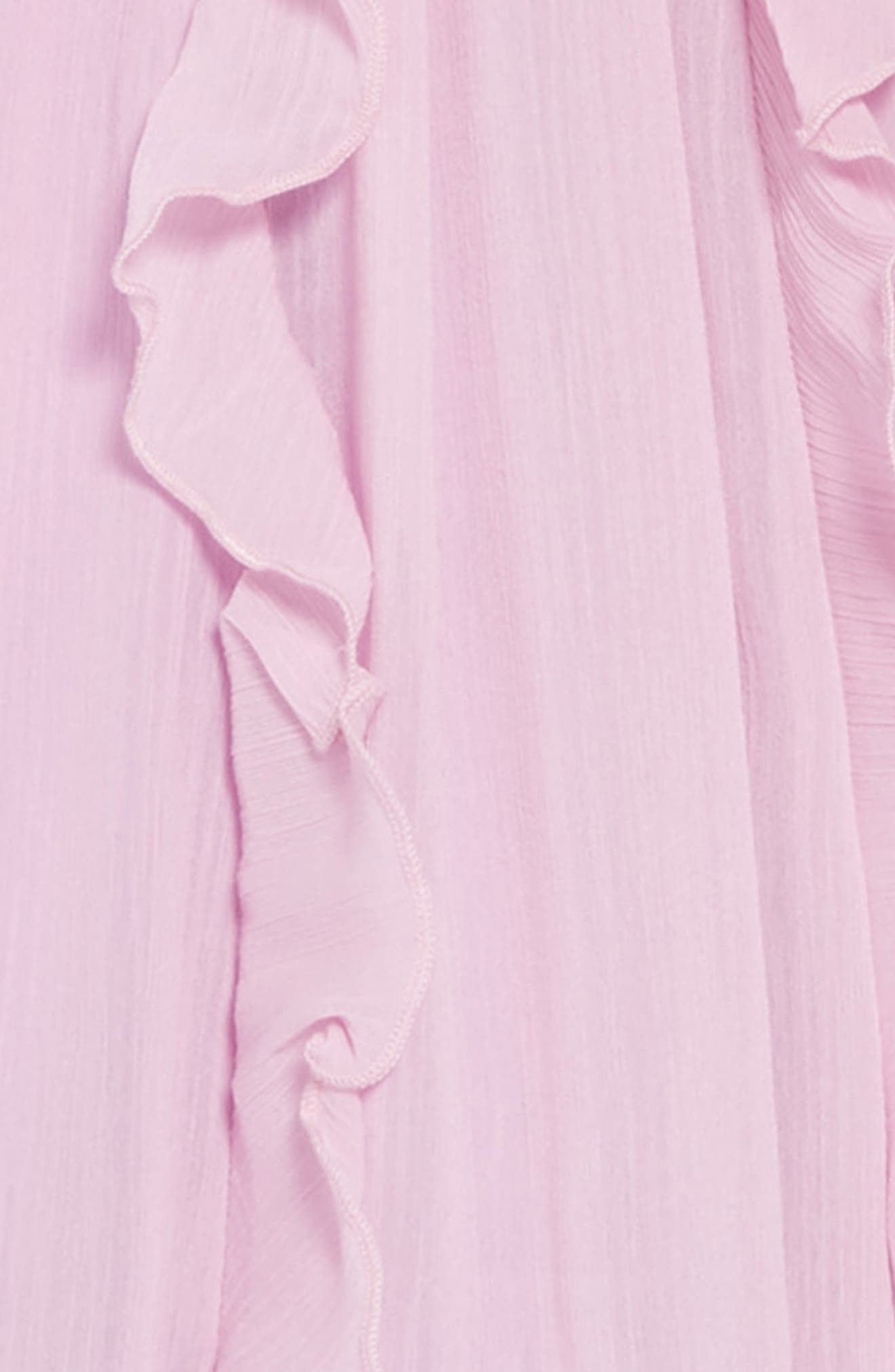 Ruffle Trim Chiffon Dress,                             Alternate thumbnail 3, color,                             SMOKY WISTERIA
