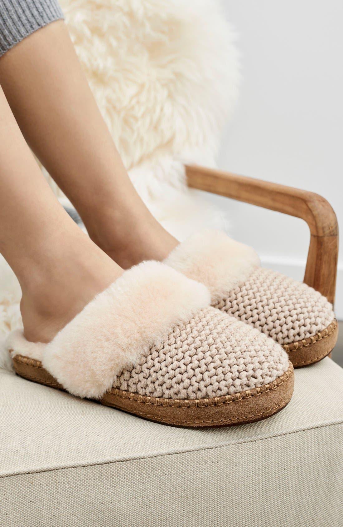 Aira Knit Scuff Slipper,                             Alternate thumbnail 5, color,                             900