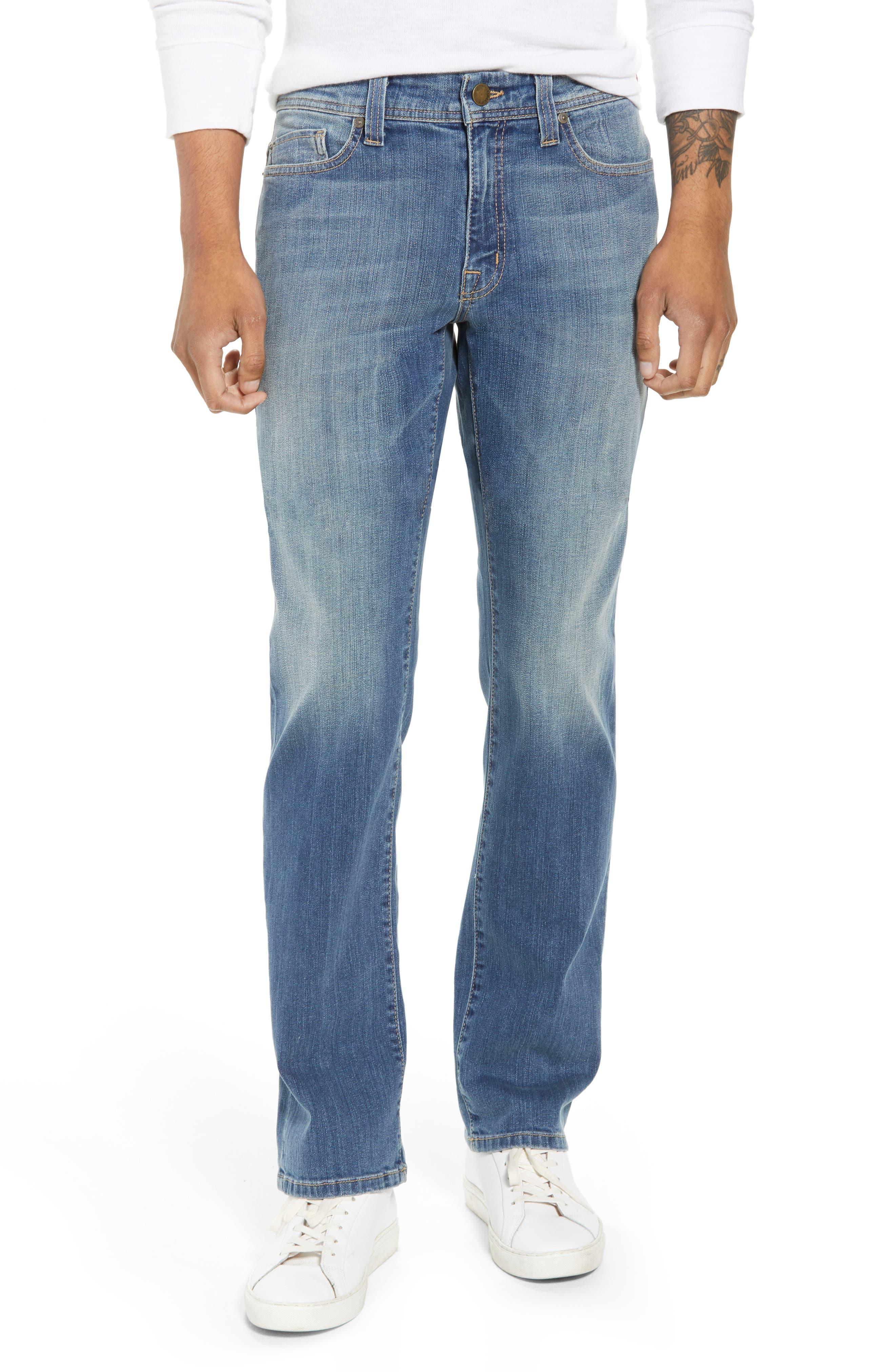 Jimmy Slim Straight Leg Jeans,                             Main thumbnail 1, color,                             SYNDICATE BLUE