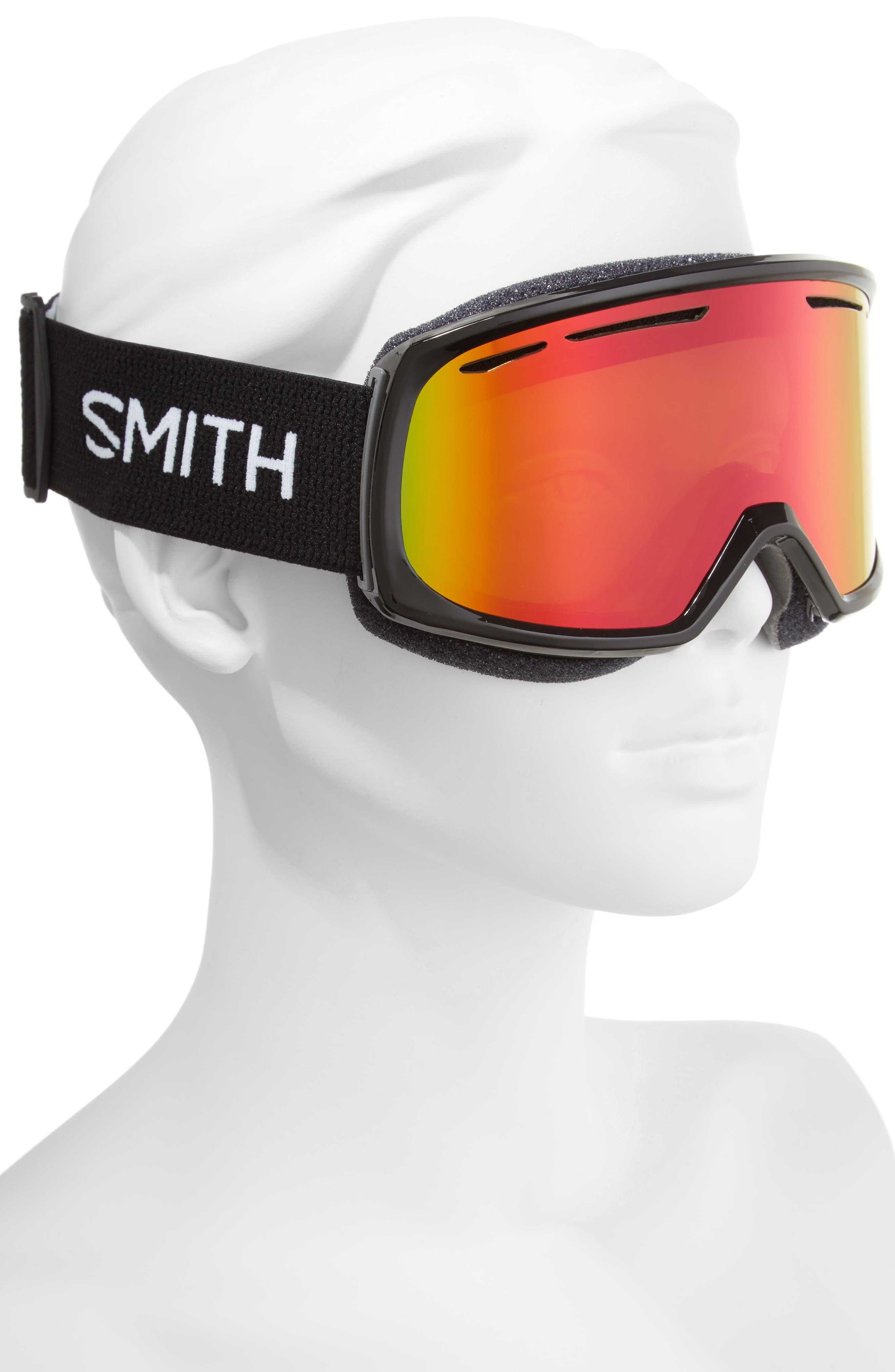 Drift Snow Goggles,                             Alternate thumbnail 2, color,                             BLACK/ MIRROR