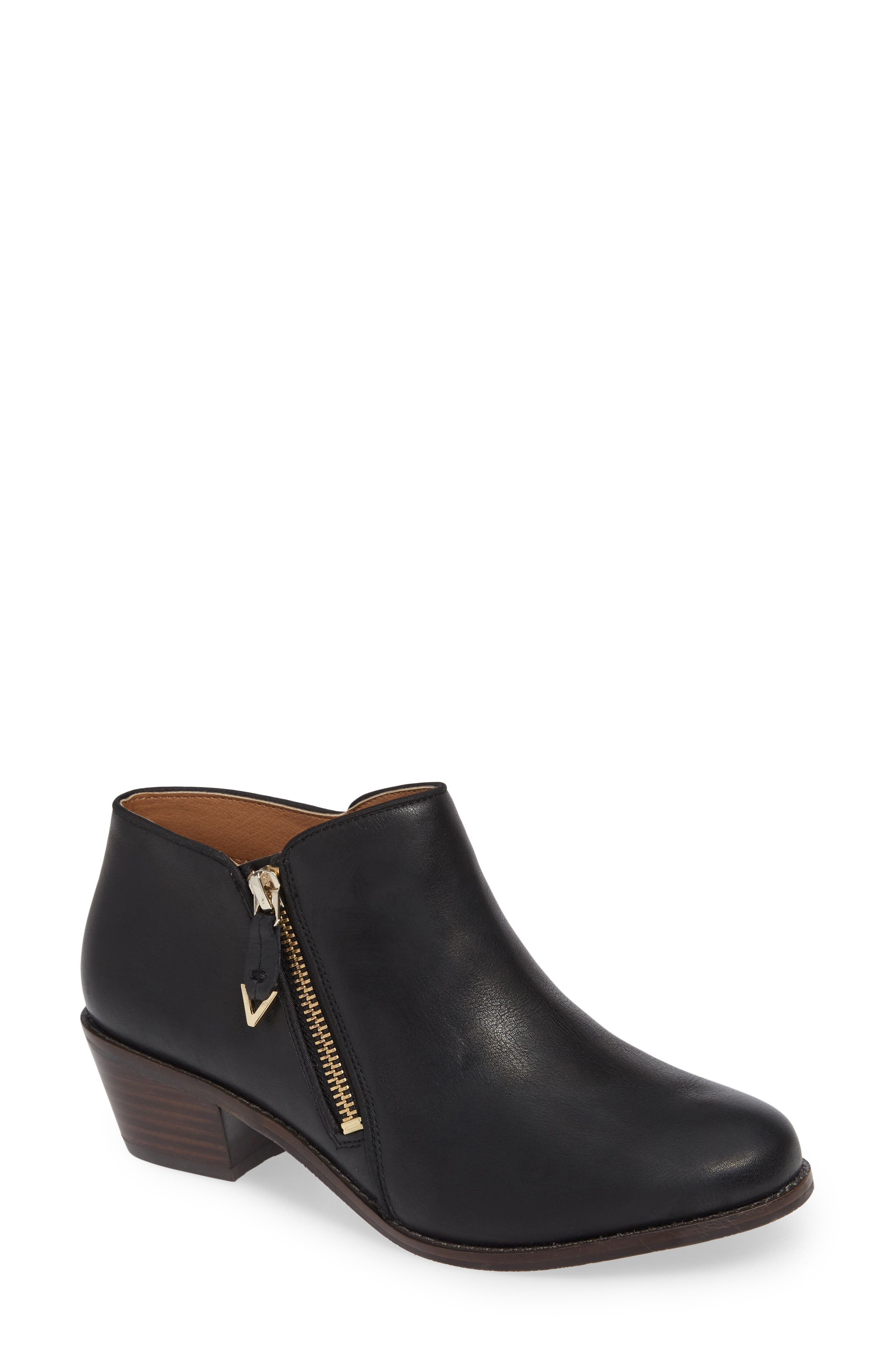 Jolene Bootie,                         Main,                         color, BLACK LEATHER