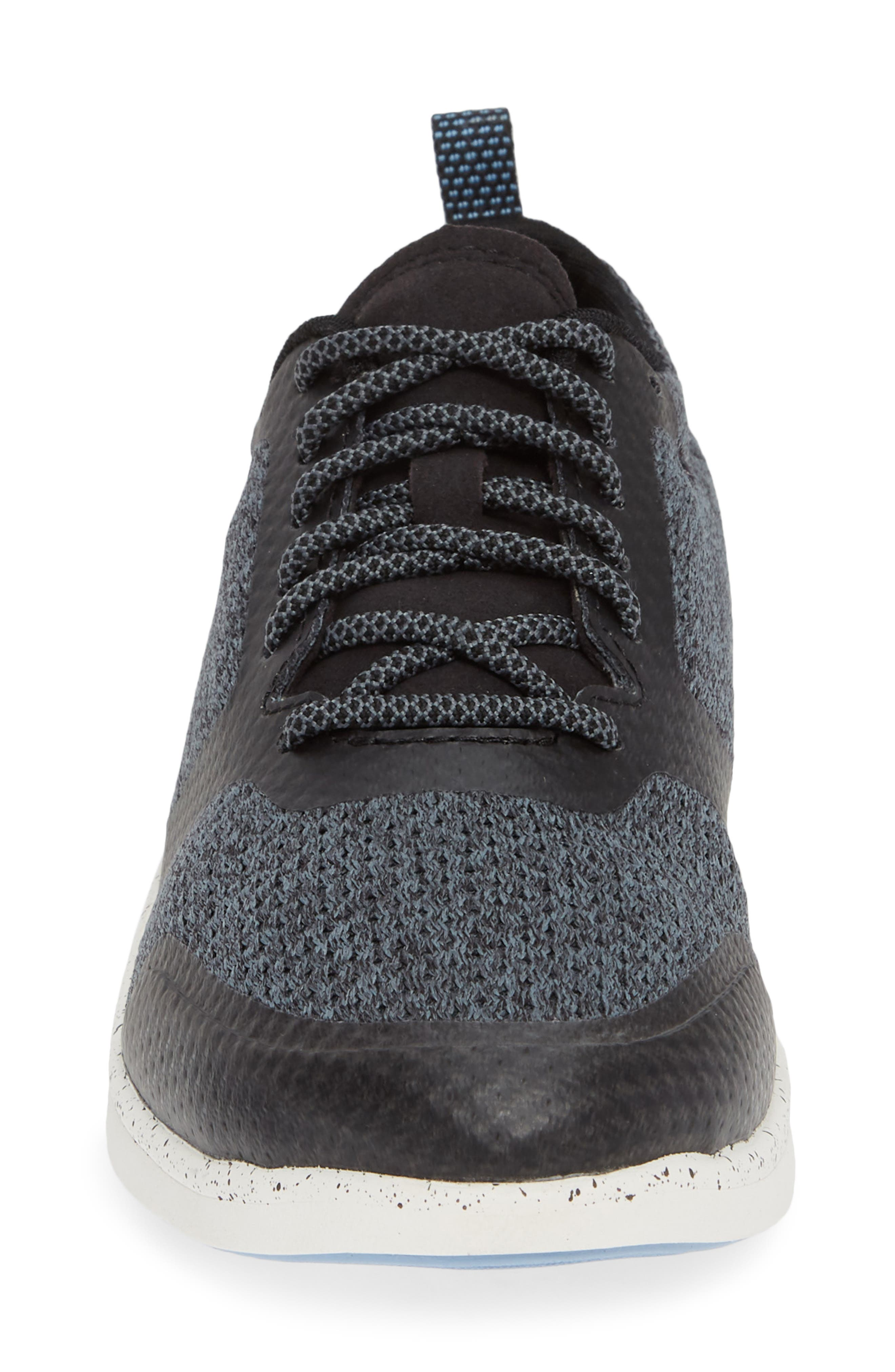 Linden Sneaker,                             Alternate thumbnail 4, color,                             BLACK FABRIC
