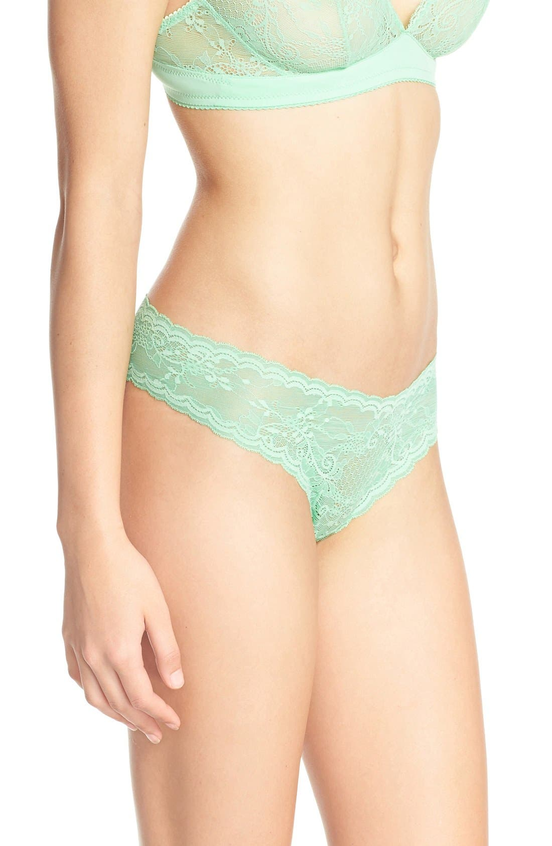 'Trenta' Low Rise Lace Thong,                             Alternate thumbnail 149, color,