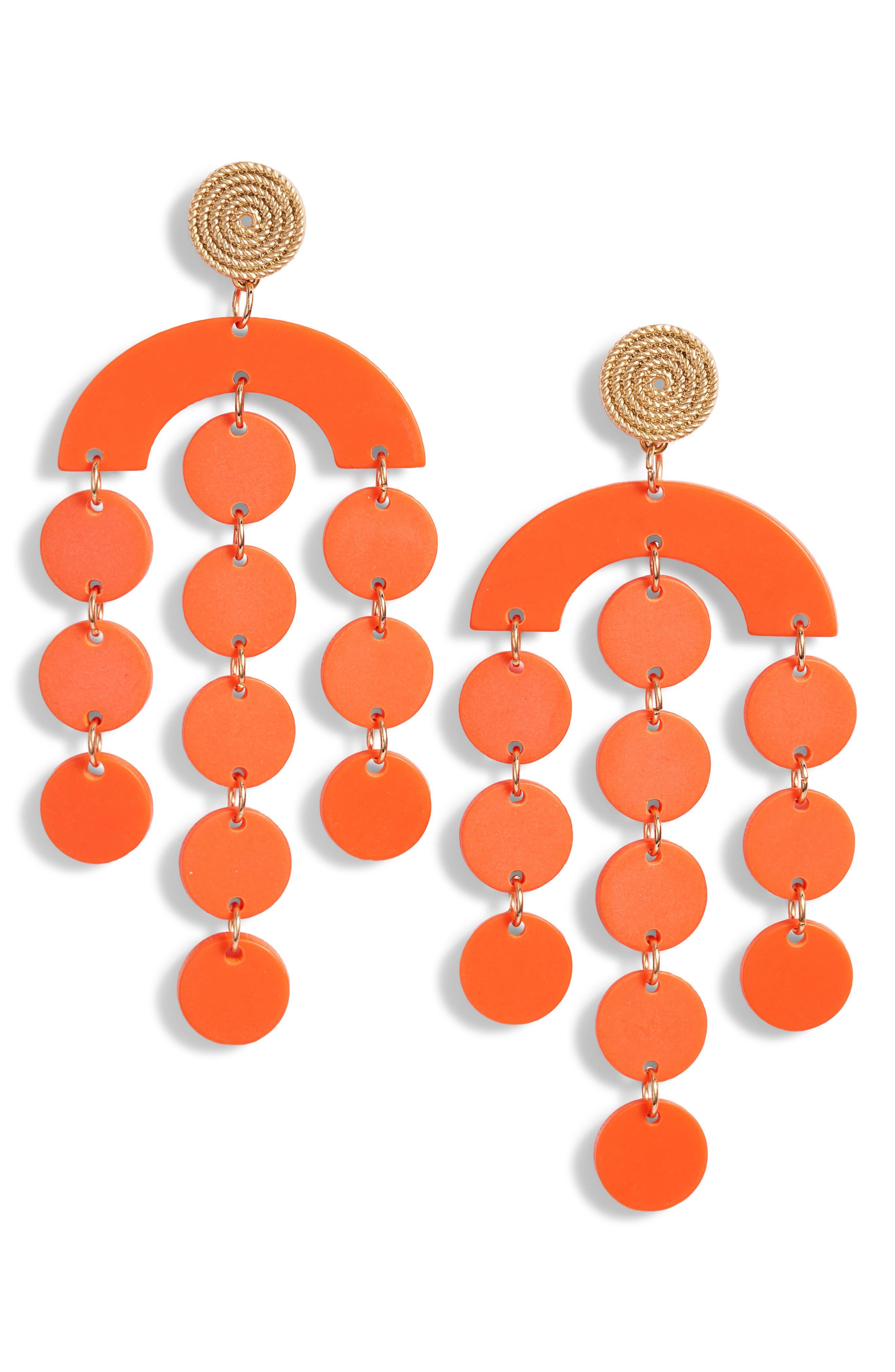 60s -70s Jewelry – Necklaces, Earrings, Rings, Bracelets Womens Bracha Santa Barbara Earrings $40.00 AT vintagedancer.com