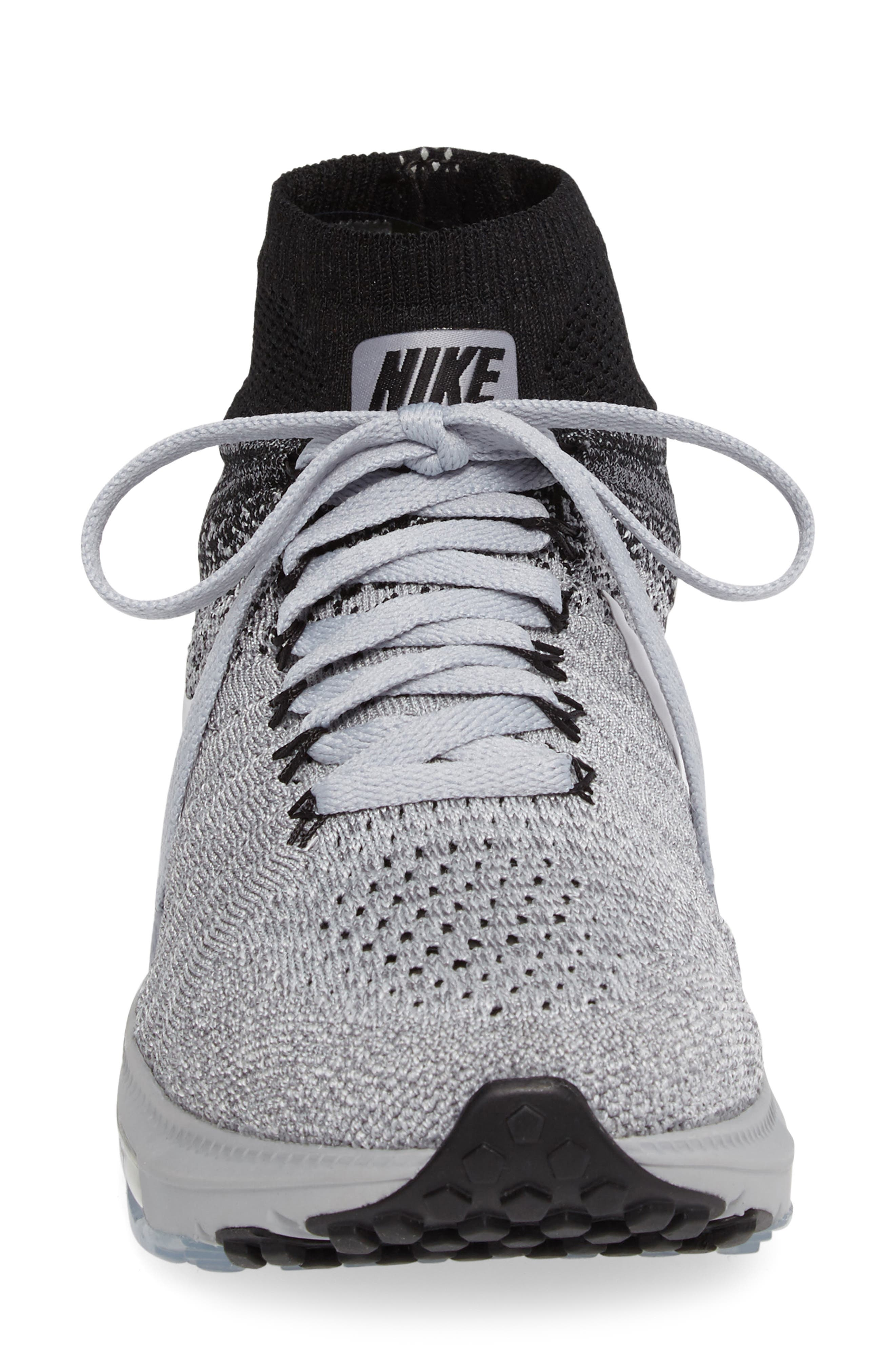 Air Zoom Pegasus All Out Flyknit Running Shoe,                             Alternate thumbnail 3, color,                             021