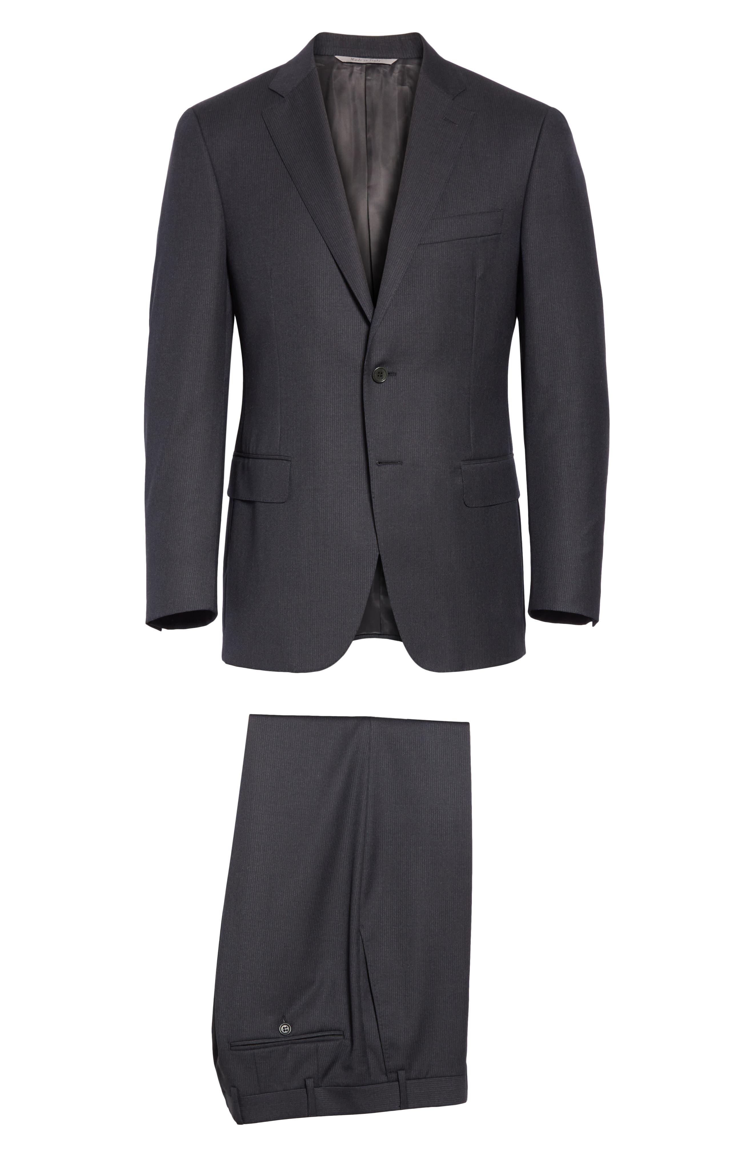 Classic Fit Stripe Wool Suit,                             Alternate thumbnail 8, color,                             020