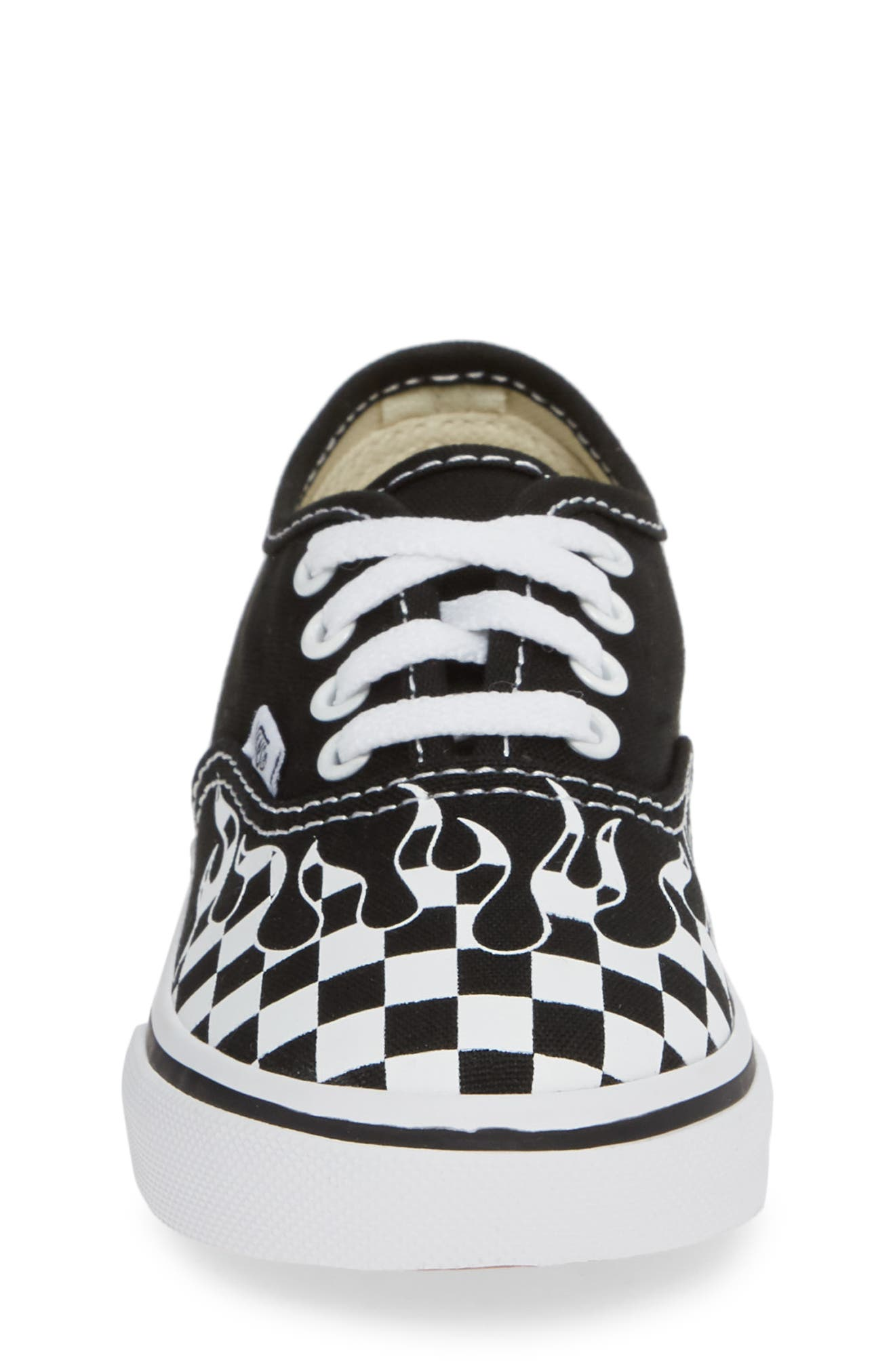 Authentic Sneaker,                             Alternate thumbnail 4, color,                             BLACK/ TRUE WHITE TEXTILE