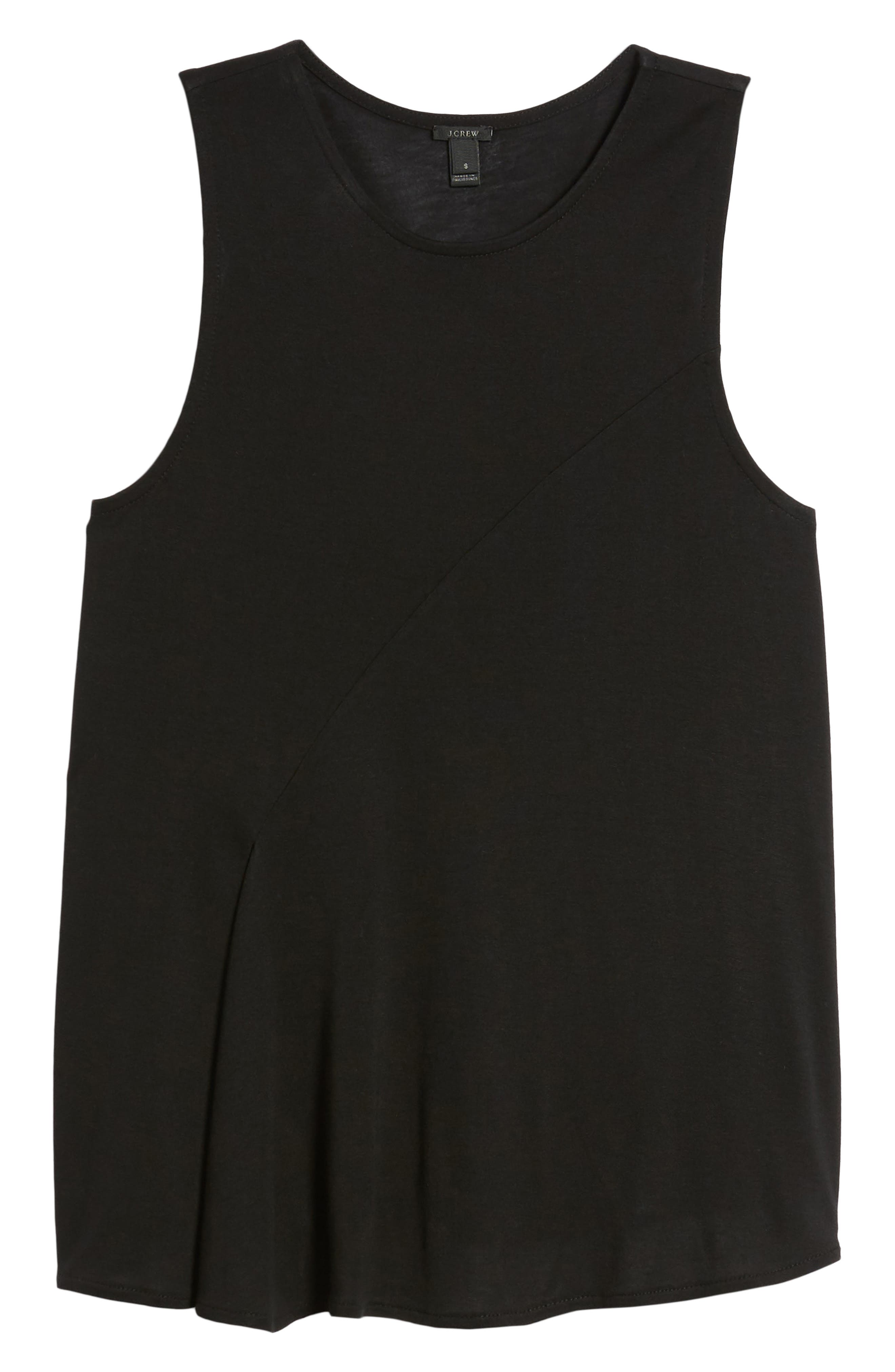 Pleated Swing Tank Top,                             Alternate thumbnail 7, color,                             001