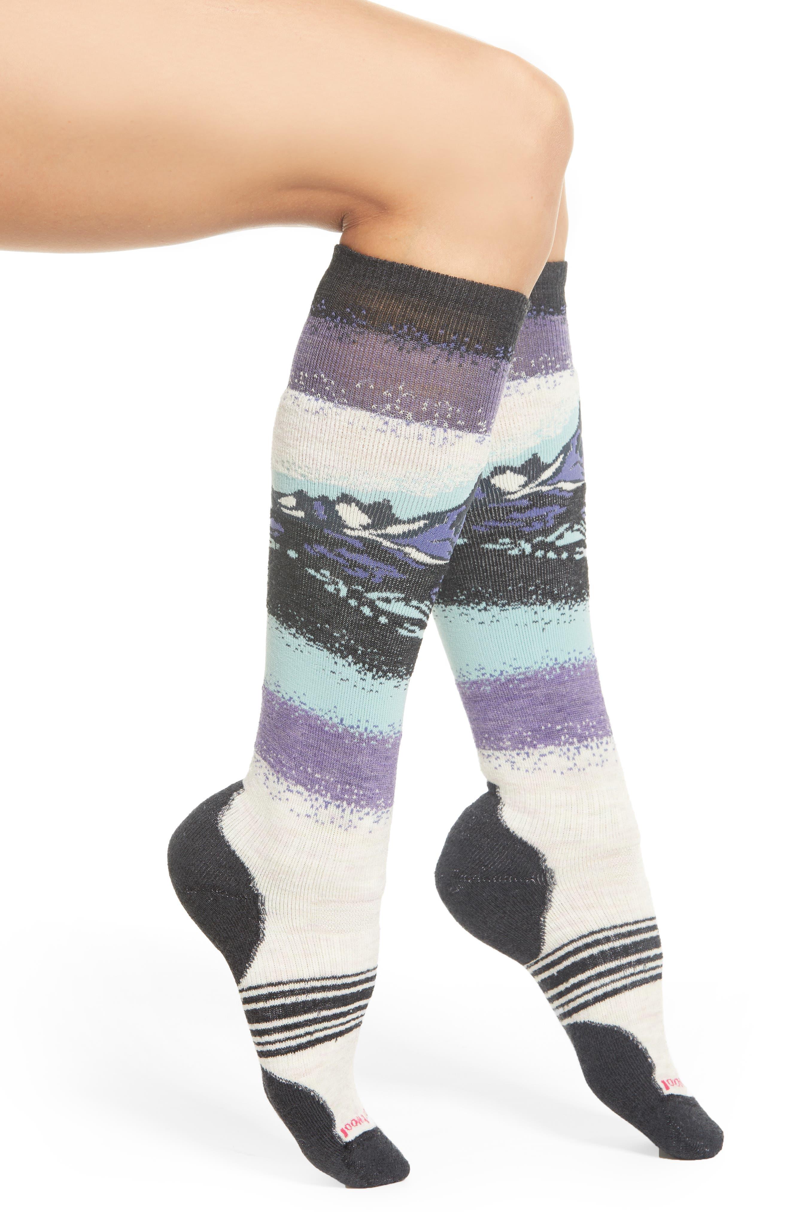 PhD<sup>®</sup> Slopestyle Medium Ski Socks,                             Main thumbnail 1, color,                             MOONBEAM