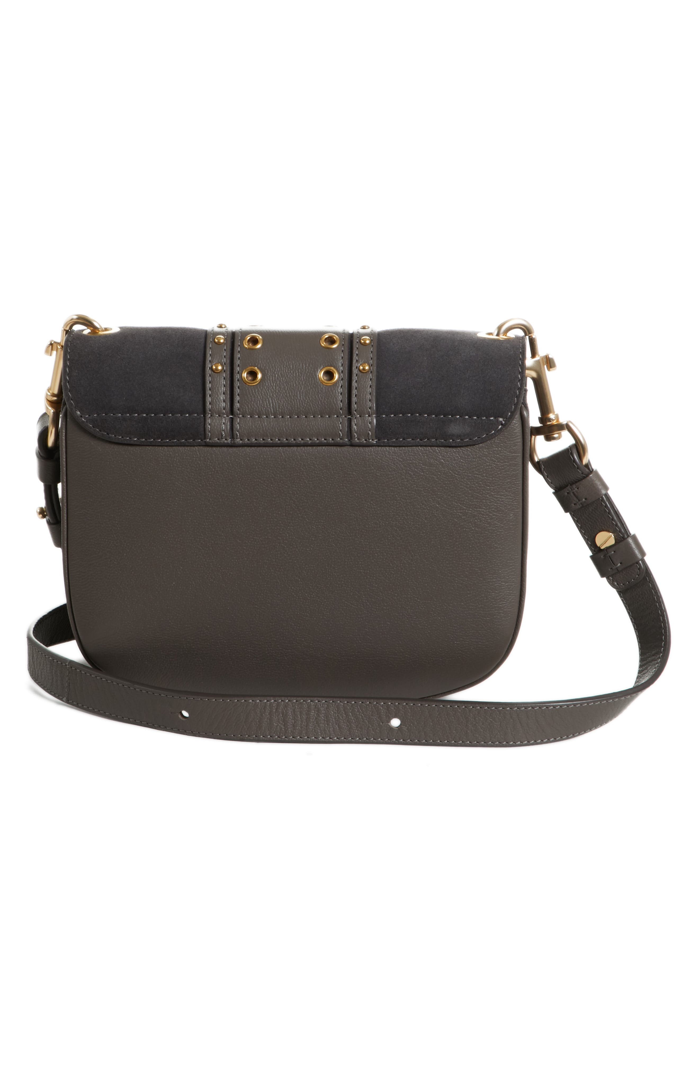 Small Hana Studded Leather Crossbody Bag,                             Alternate thumbnail 3, color,                             201