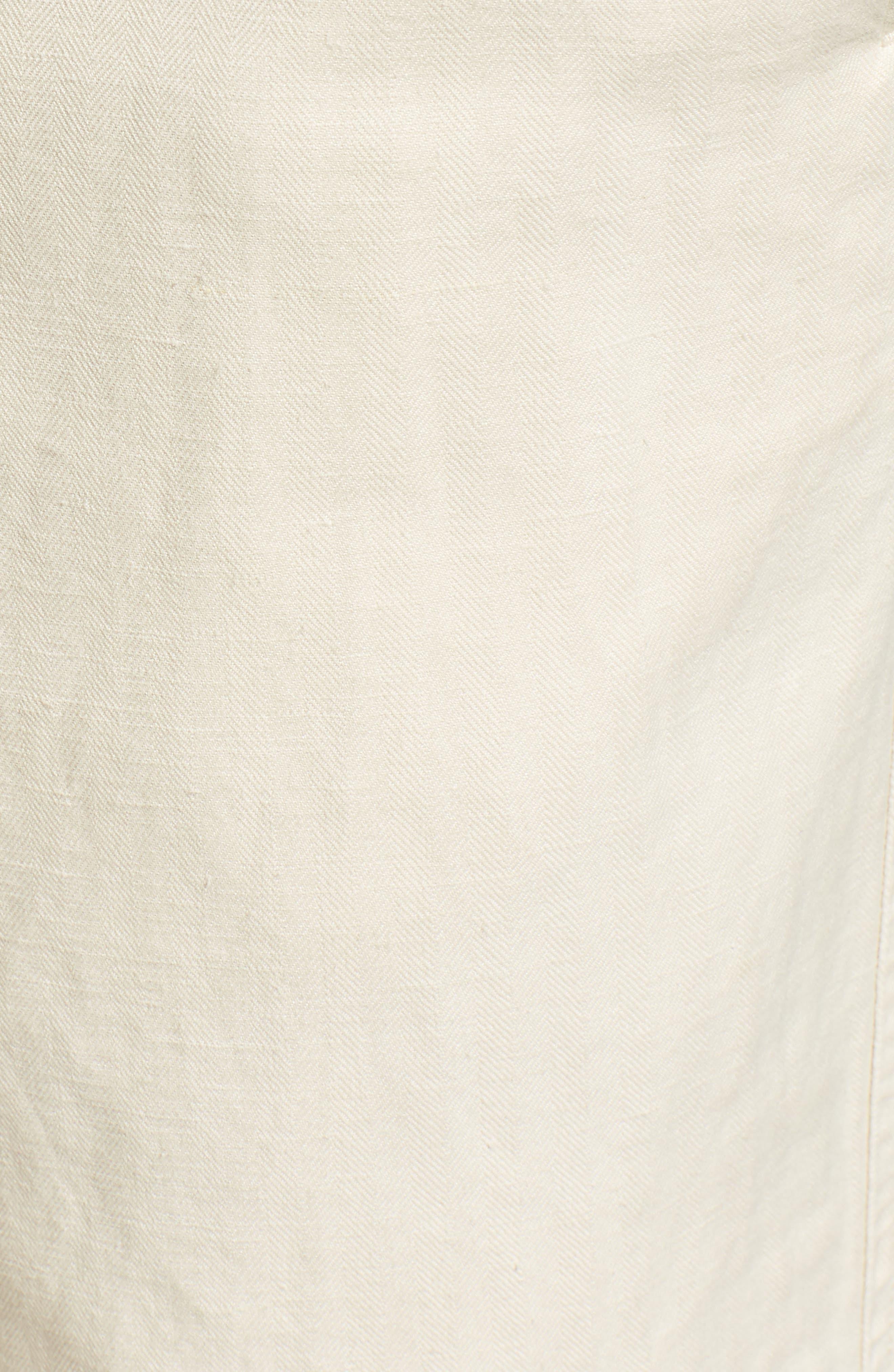 Clyde Cotton & Linen Shorts,                             Alternate thumbnail 5, color,                             EGGSHELL