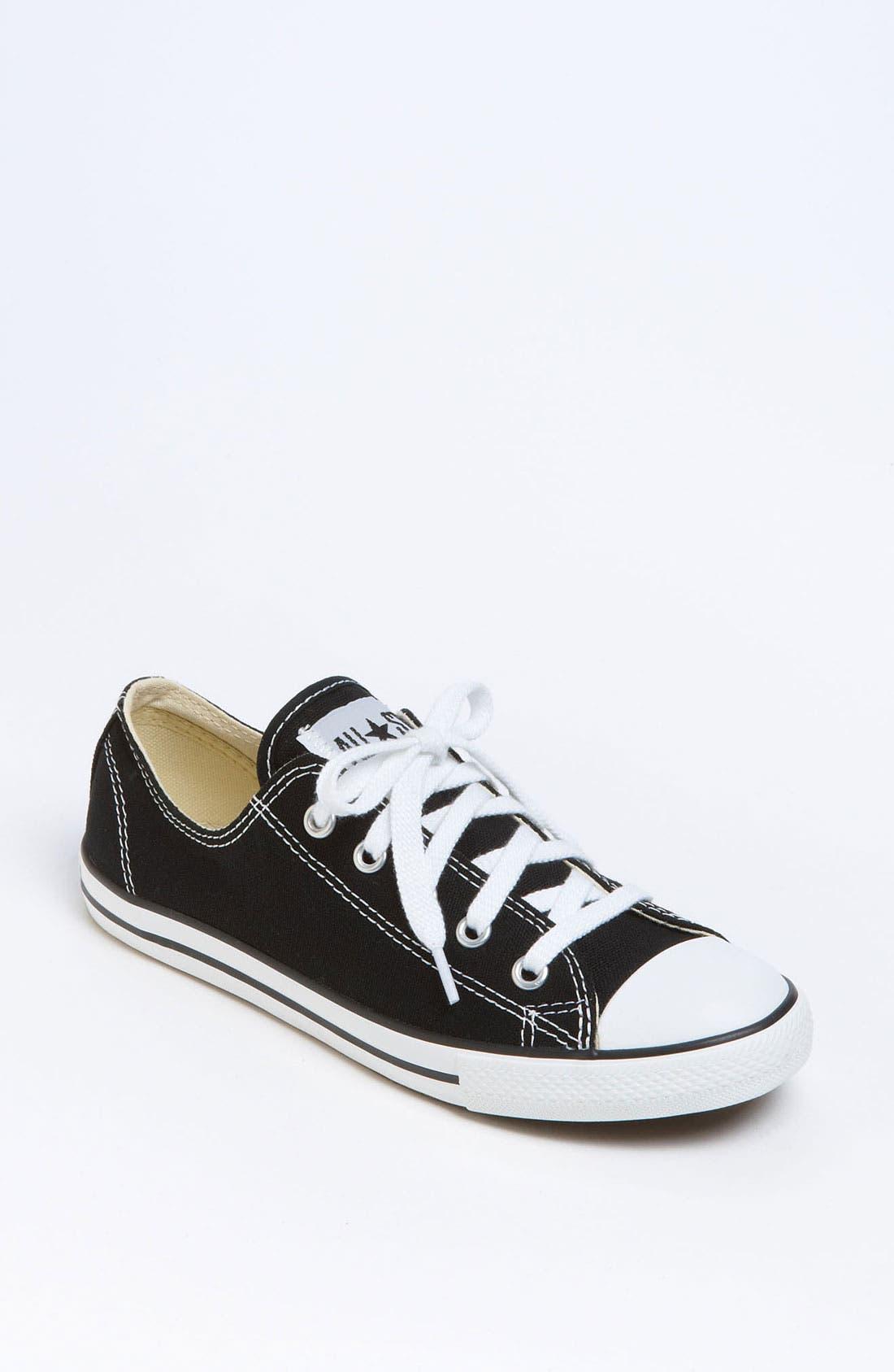 CONVERSE,                             Chuck Taylor<sup>®</sup> 'Dainty' Sneaker,                             Main thumbnail 1, color,                             001