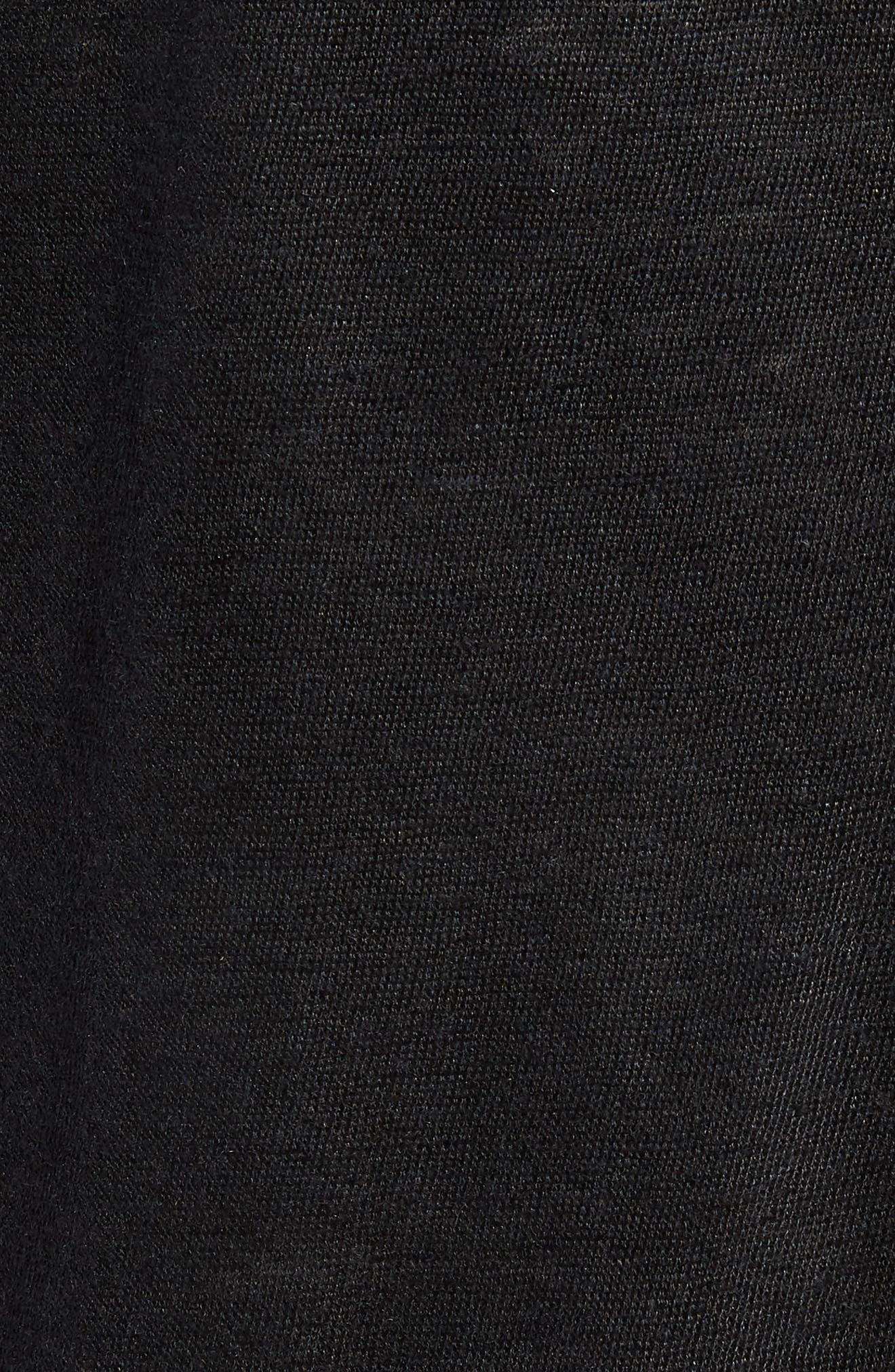 John Varvatos x Nick Jonas Zip Front Jacket,                             Alternate thumbnail 5, color,                             001