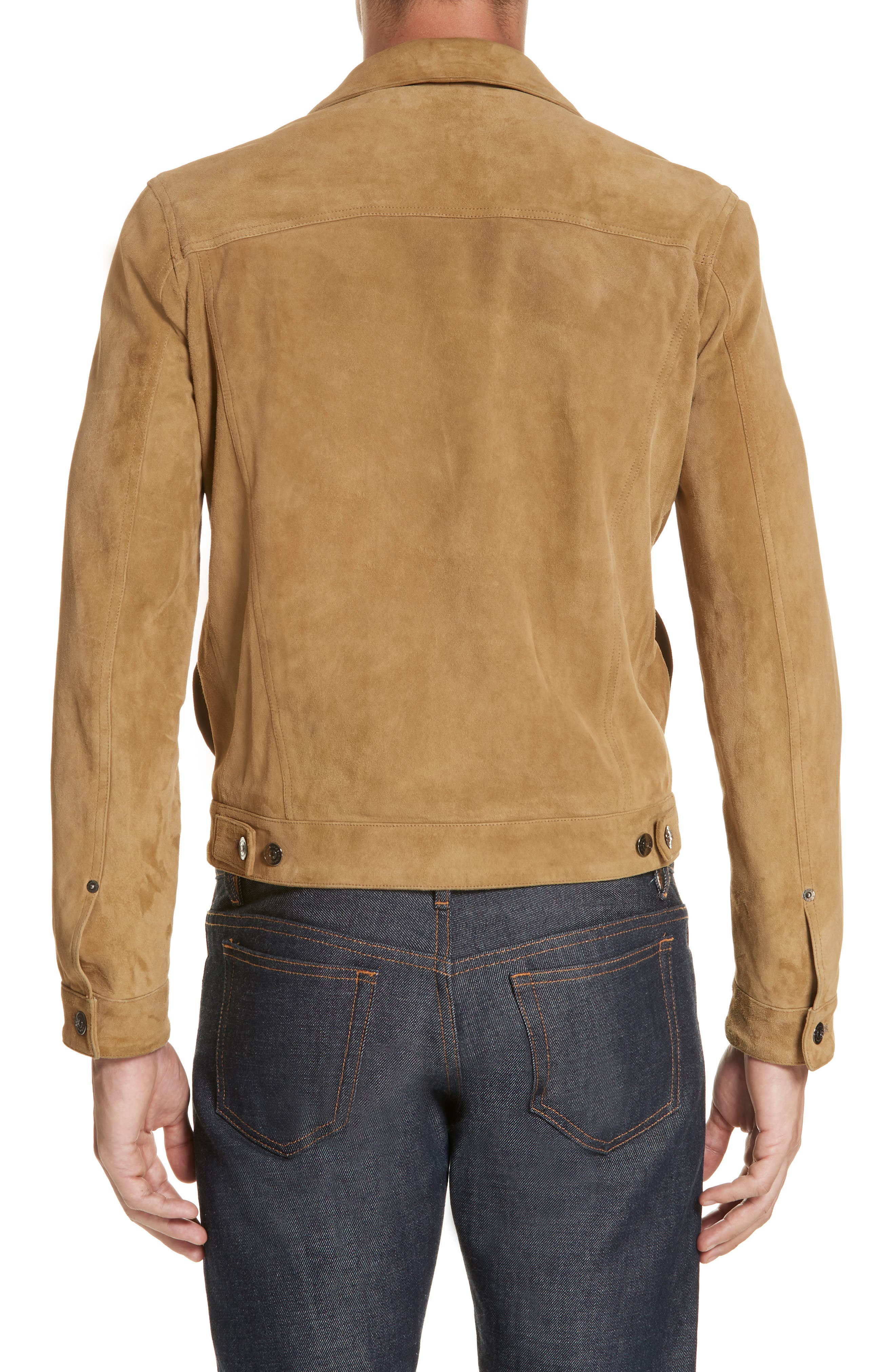 Suede Western Jacket,                             Alternate thumbnail 2, color,                             WALNUT
