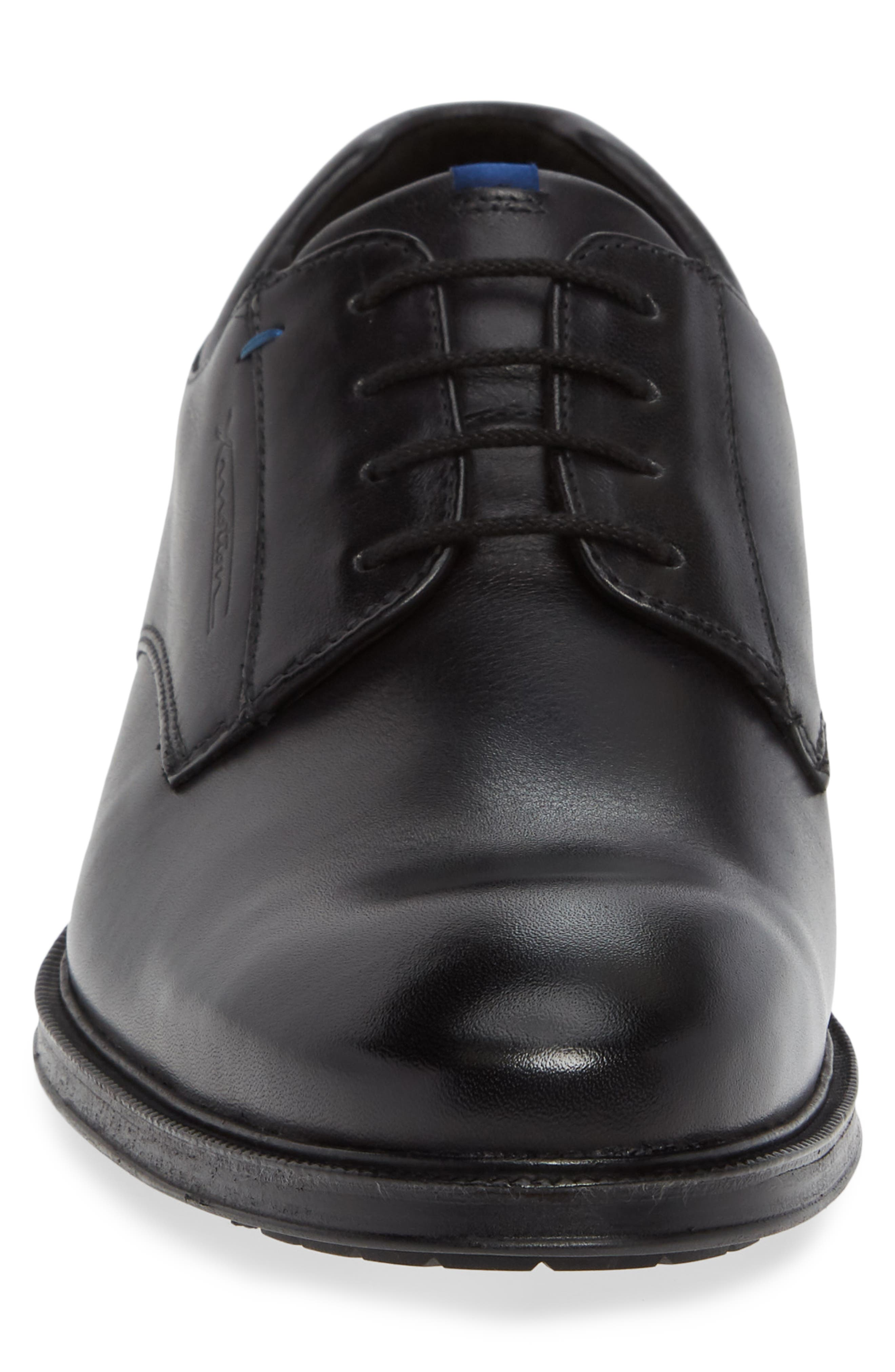 Veria Gore-Tex<sup>®</sup> Plain Toe Derby,                             Alternate thumbnail 4, color,                             BLACK LEATHER