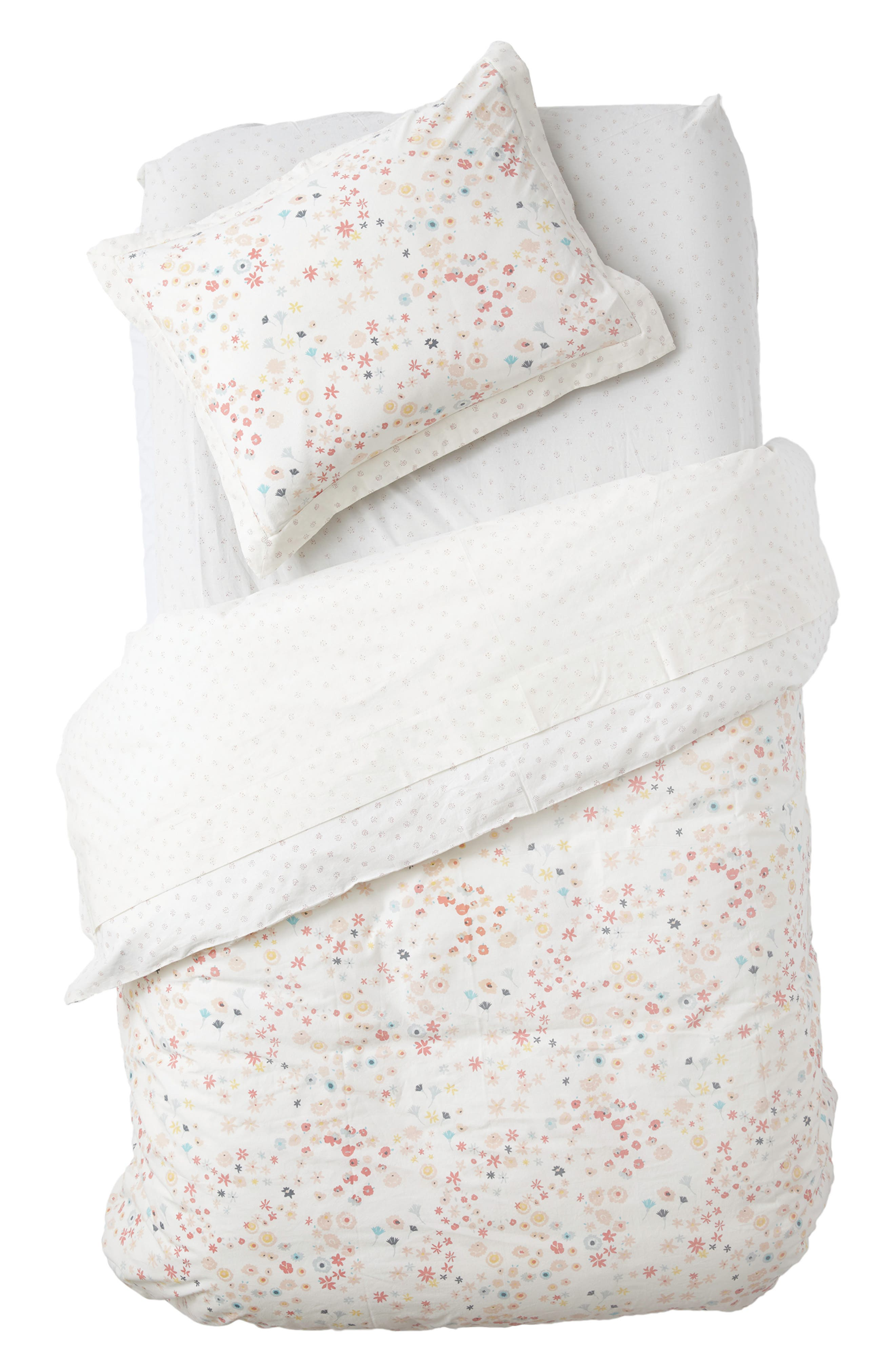 Meadow Duvet Cover,                         Main,                         color, PINK