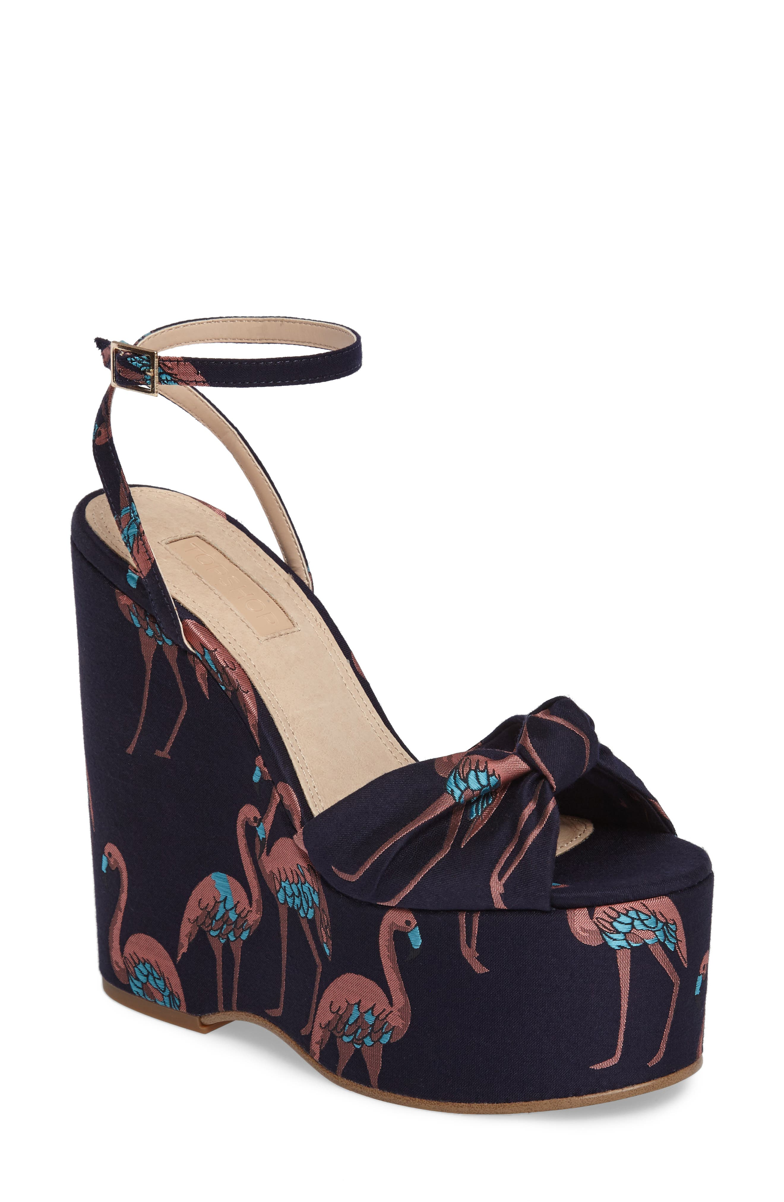 Waltz Knotted Platform Wedge,                             Main thumbnail 2, color,