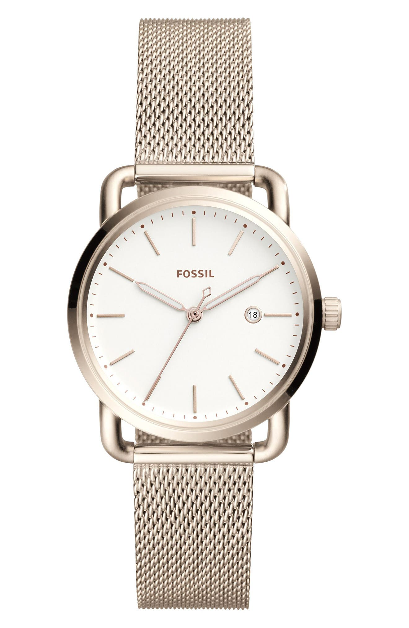 The Commuter Mesh Strap Watch, 34mm,                             Main thumbnail 1, color,                             652