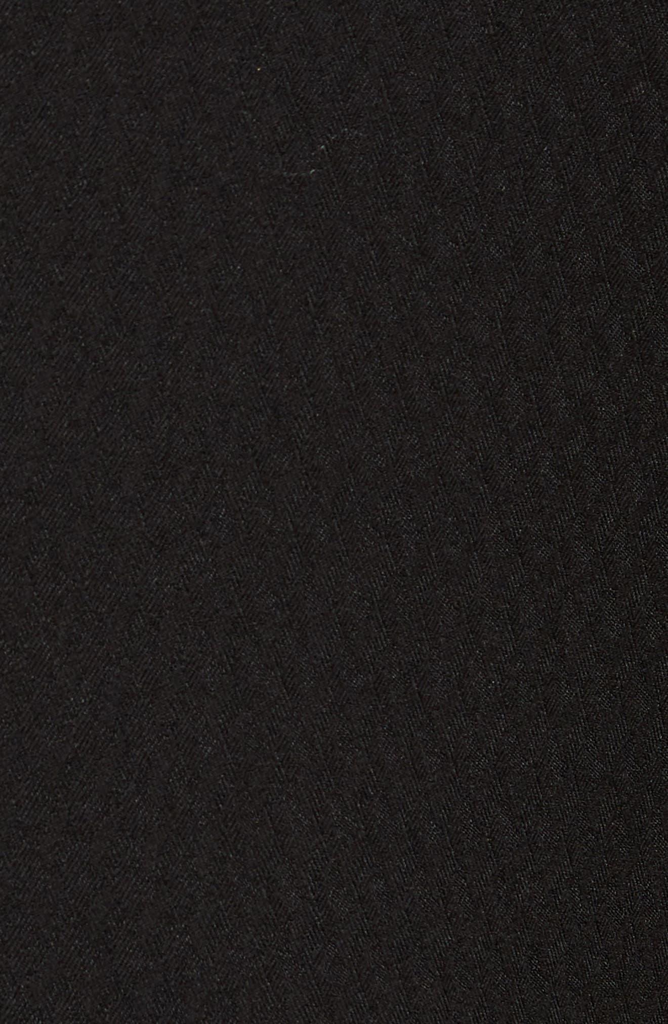 Kingley Slim Fit Tuxedo Pants,                             Alternate thumbnail 5, color,                             BLACK