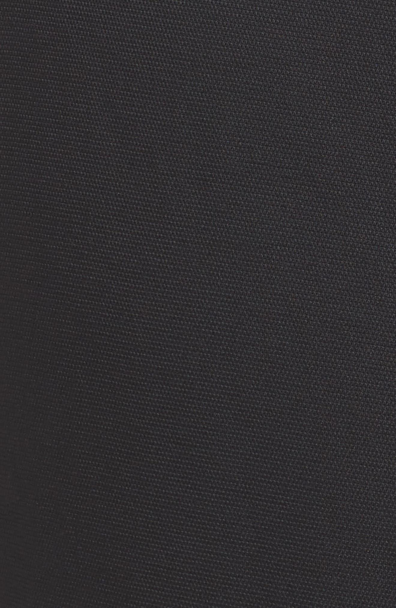 Elegant Belted Culottes,                             Alternate thumbnail 6, color,                             BLACK