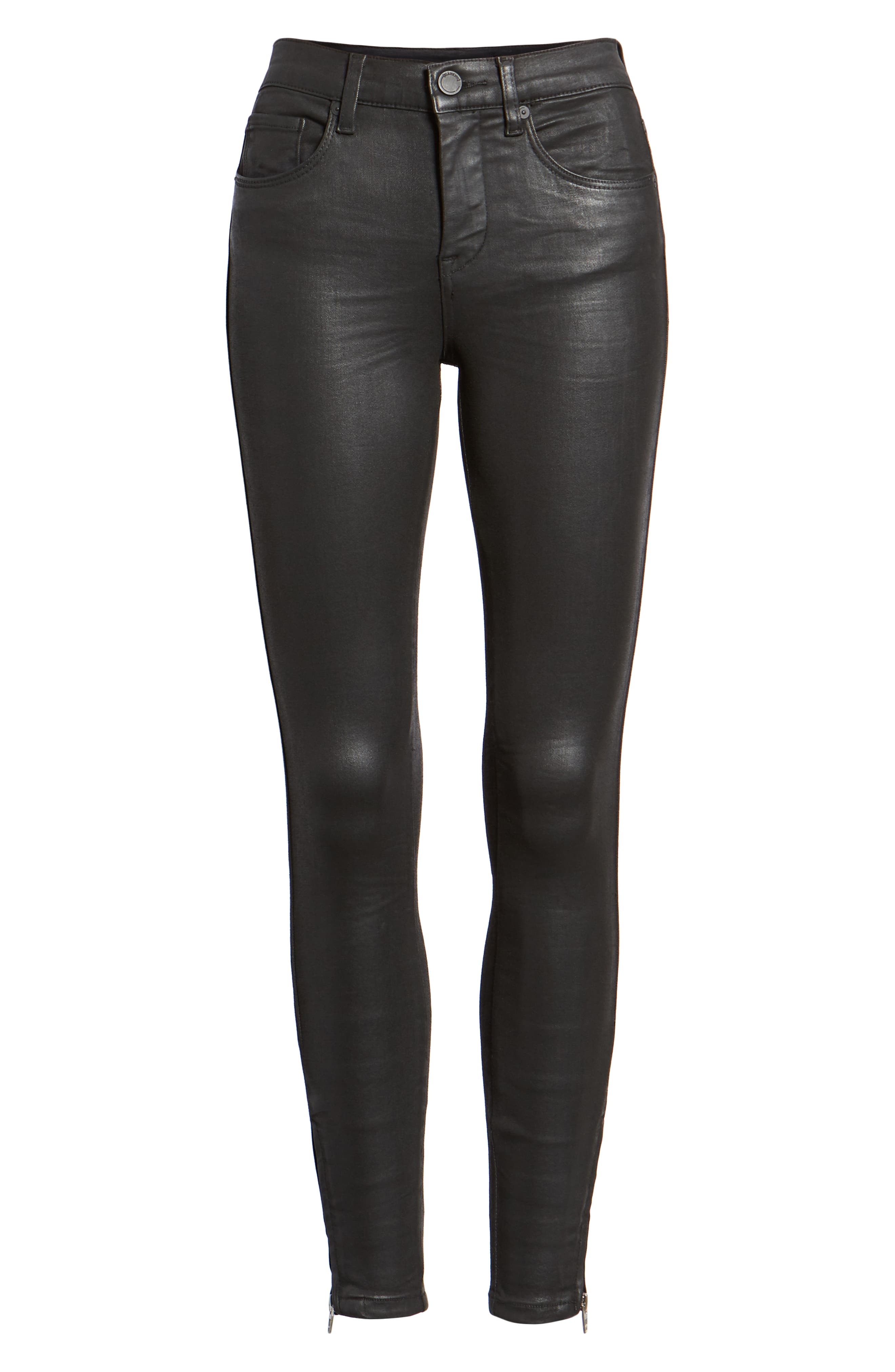 The Bond Coated Skinny Jeans,                             Alternate thumbnail 7, color,                             SPARTACUS