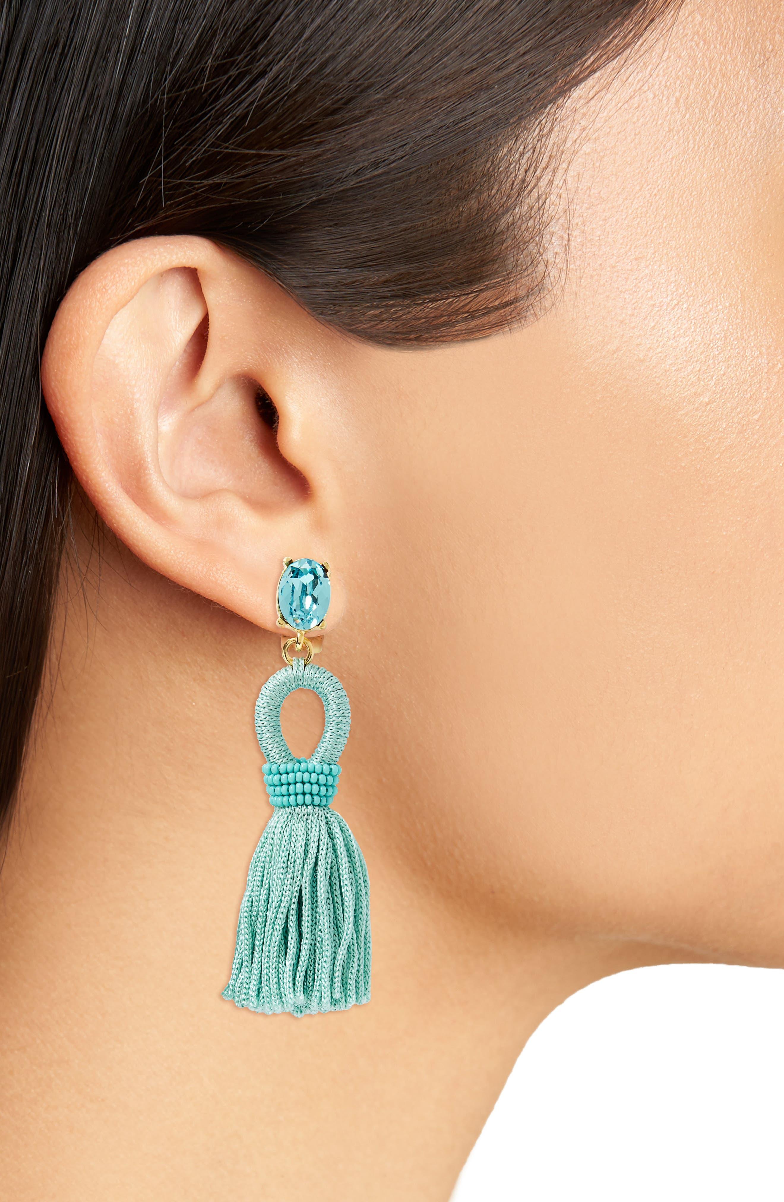 Silk Tassel Drop Earrings,                             Alternate thumbnail 13, color,