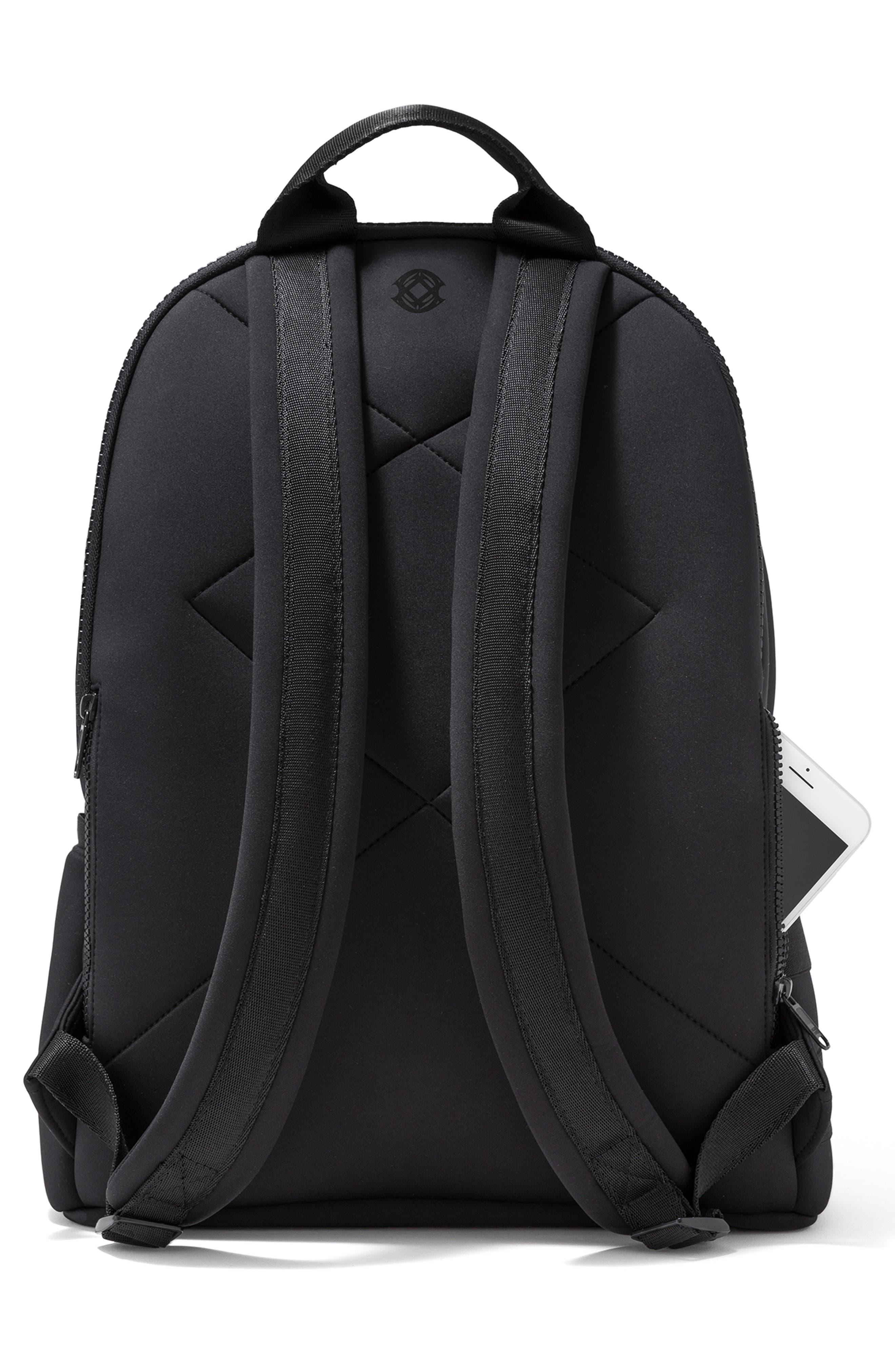 DAGNE DOVER,                             Large Dakota Neoprene Backpack,                             Alternate thumbnail 2, color,                             ONYX