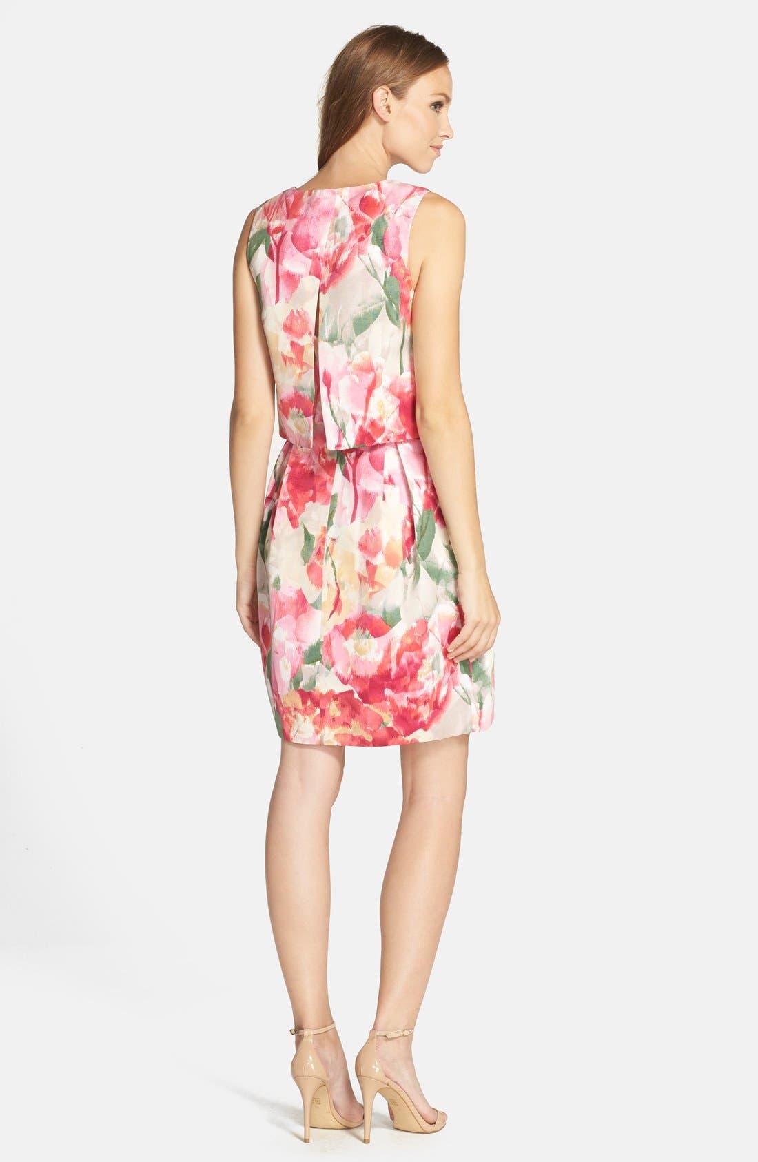 ELIZA J,                             Floral Popover Sleeveless Sheath Dress,                             Alternate thumbnail 2, color,                             698