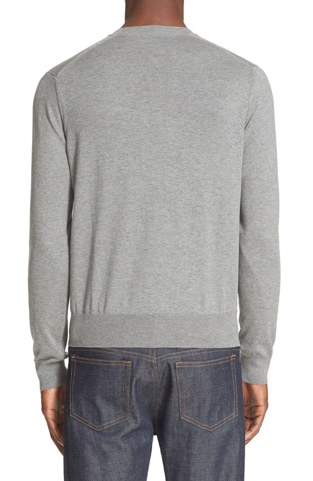 V-Neck Cotton Pullover,                             Alternate thumbnail 2, color,                             020