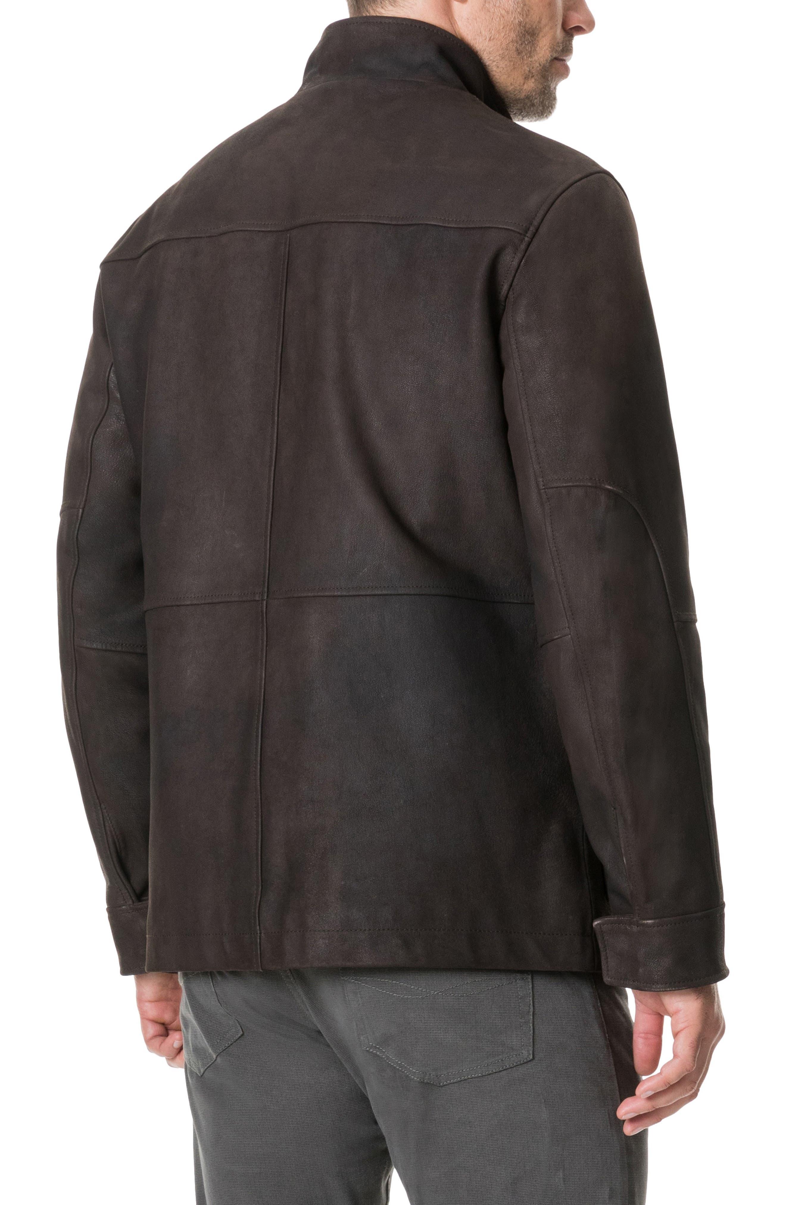 Fairholme Leather Jacket,                             Alternate thumbnail 2, color,                             CHOCOLATE