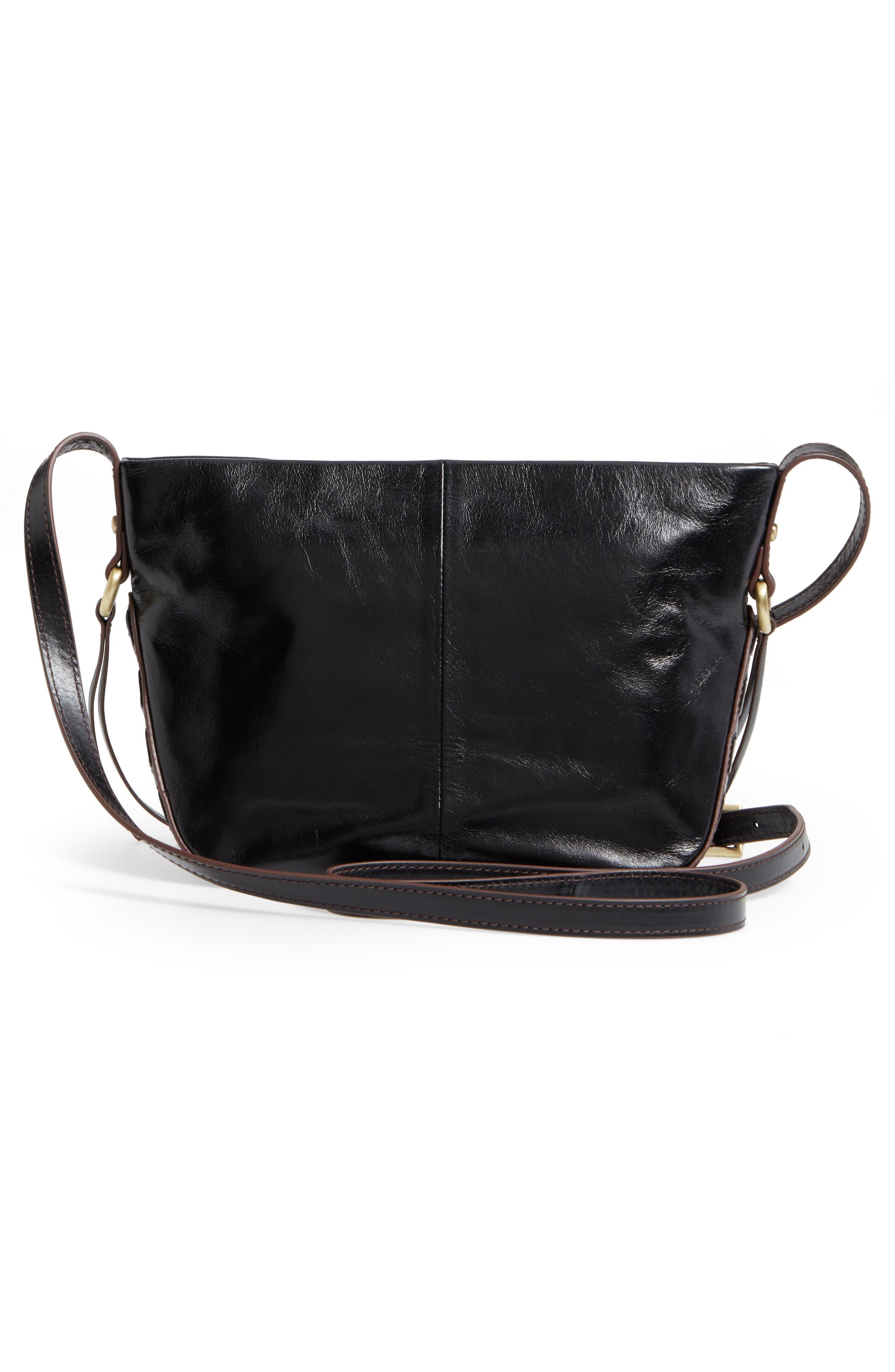 Muse Calfskin Leather Crossbody Bag,                             Alternate thumbnail 3, color,                             001