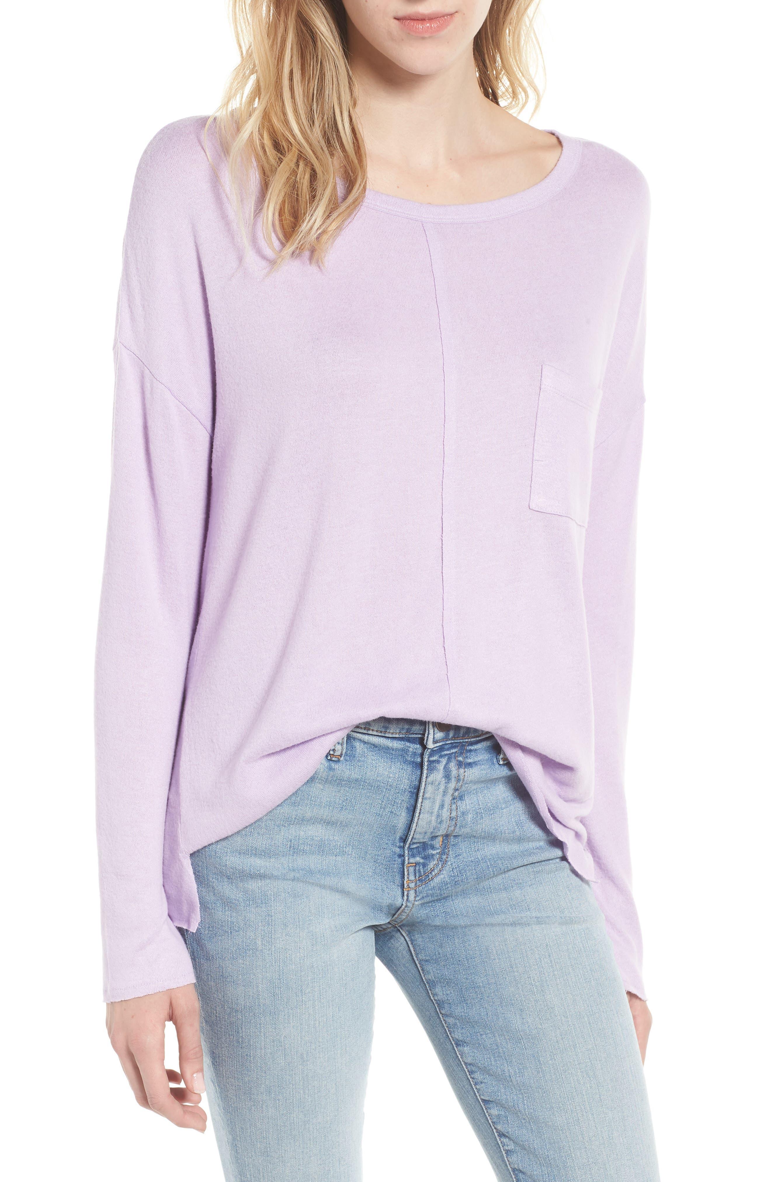 Cozy Pocket Top, Main, color, 530