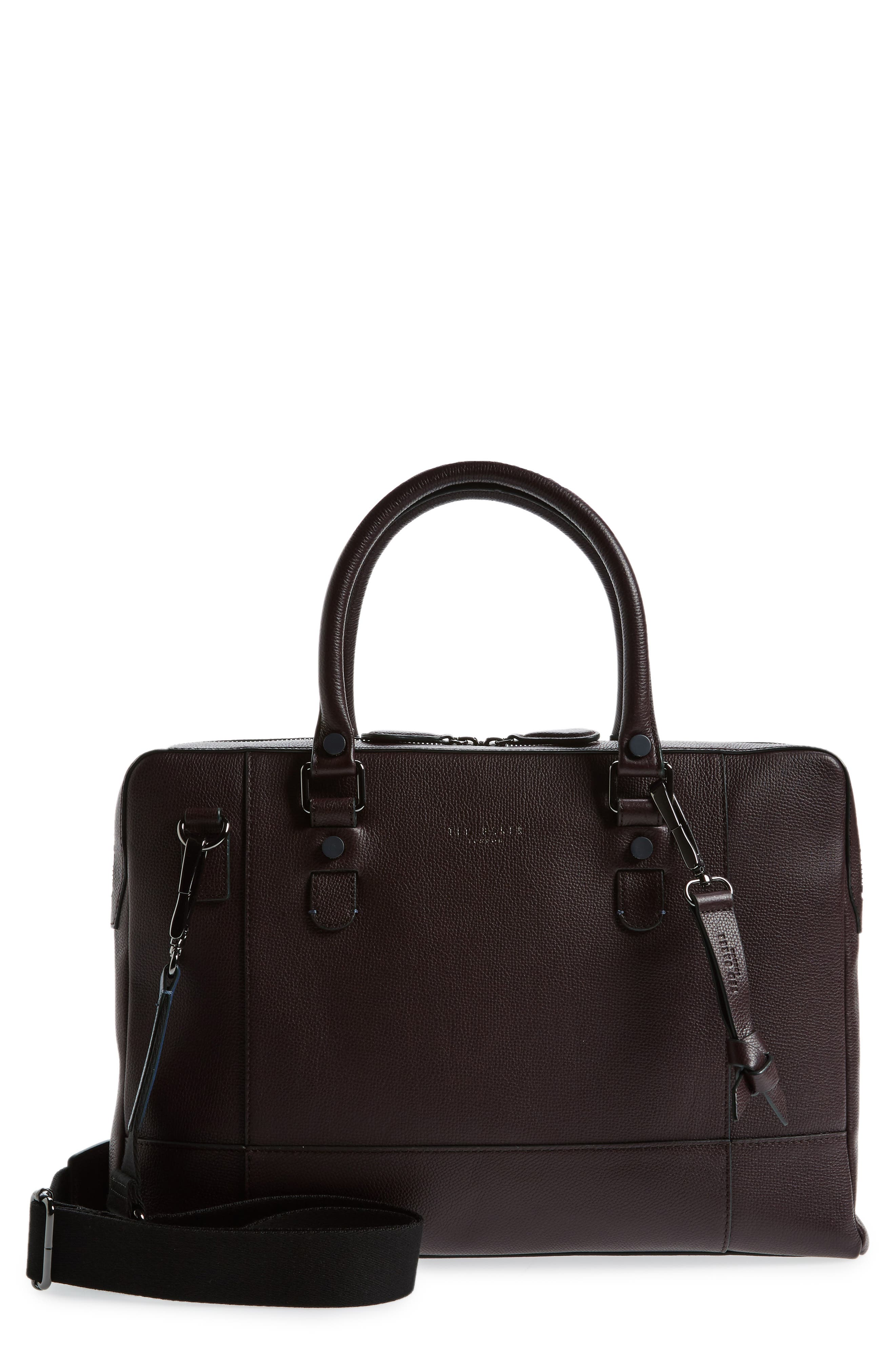 Jager Leather Briefcase,                         Main,                         color, 501