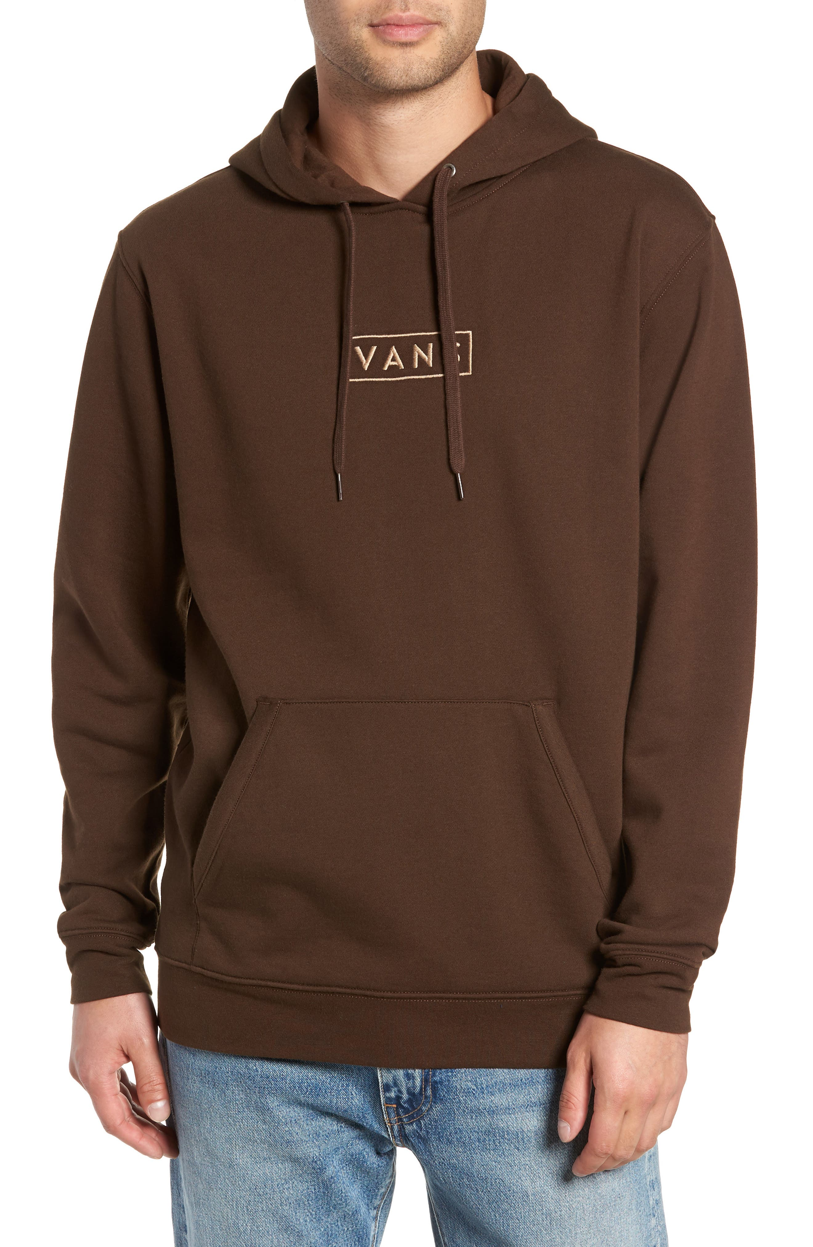 Easy Box Embroidered Hooded Sweatshirt,                         Main,                         color, DEMITASSE